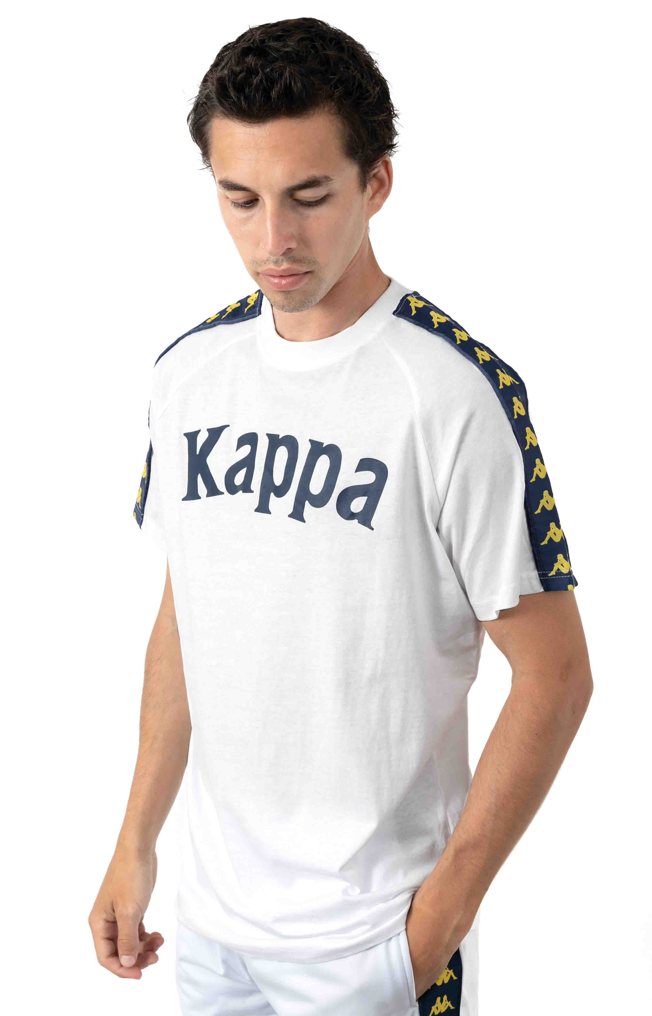 222 Banda Balima T-Shirt - White/Blue Mid/Yellow 2