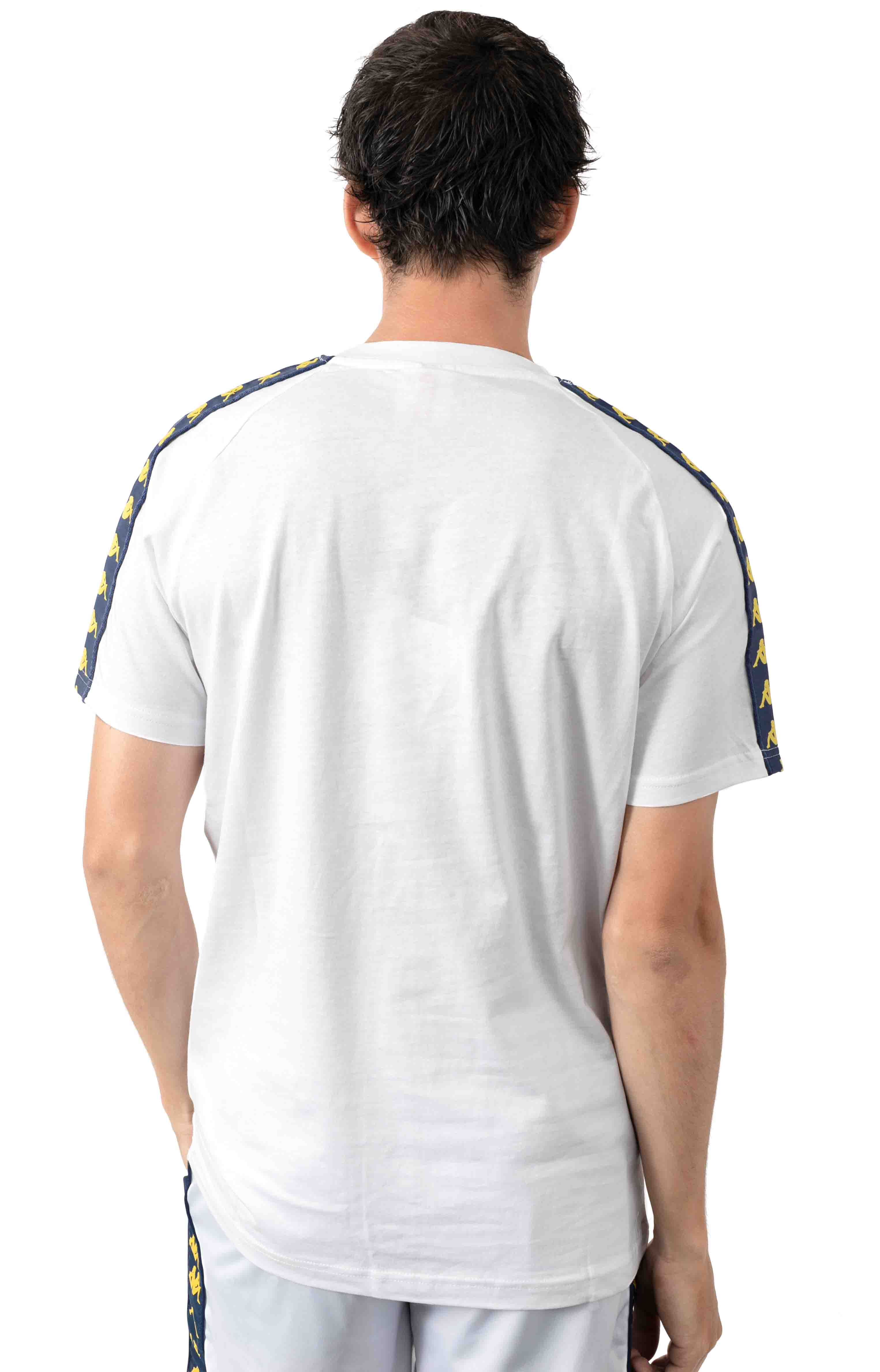 222 Banda Balima T-Shirt - White/Blue Mid/Yellow 3