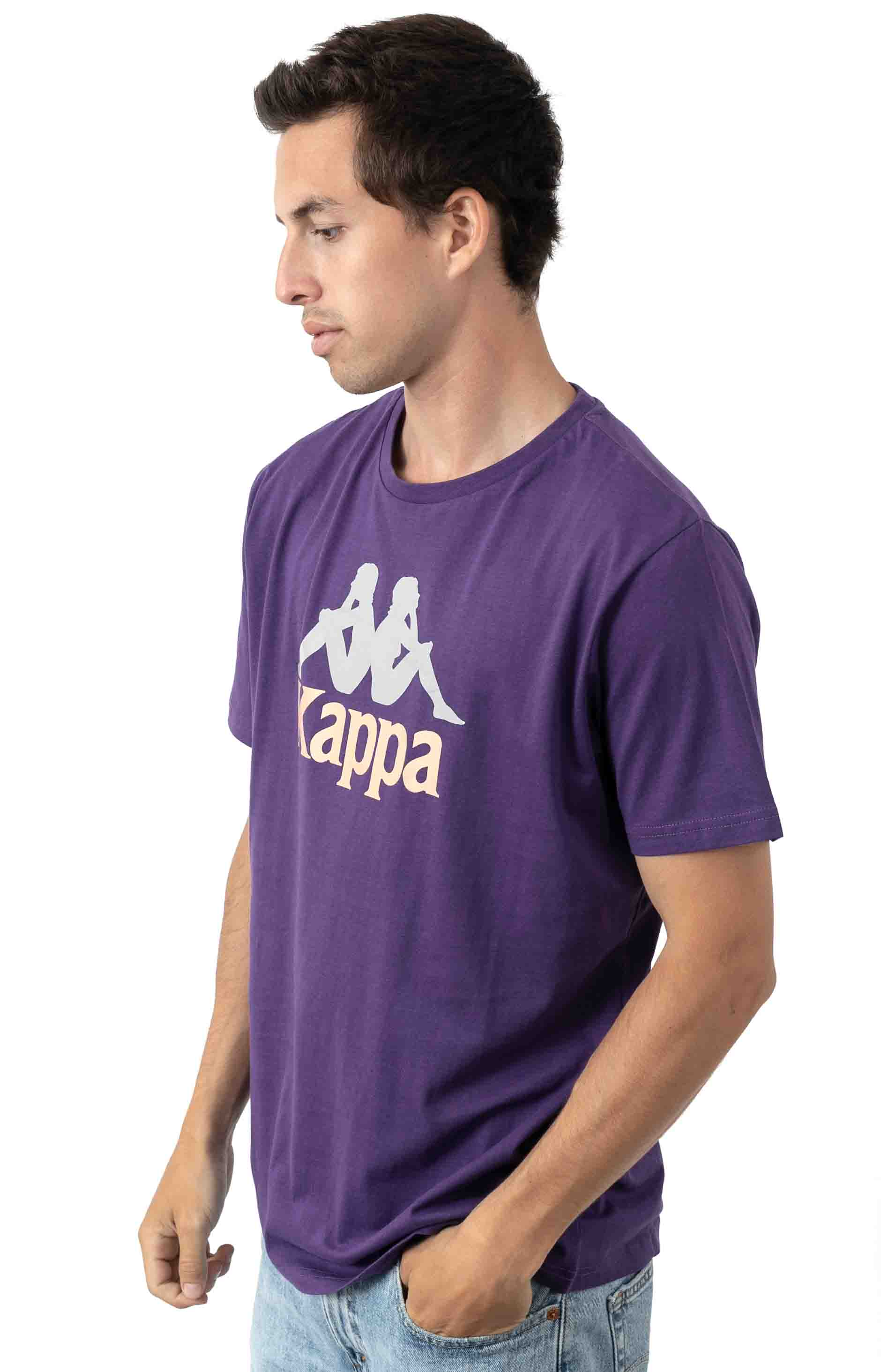 222 Authentic Dris T-Shirt - Violet/Brandy Grey/Reflect 2
