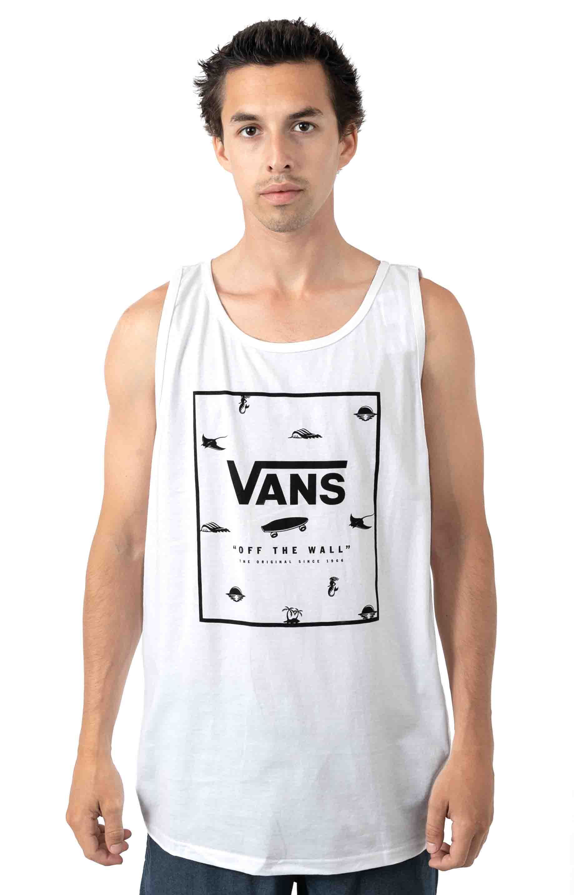 Print Box Tank Top - White 1