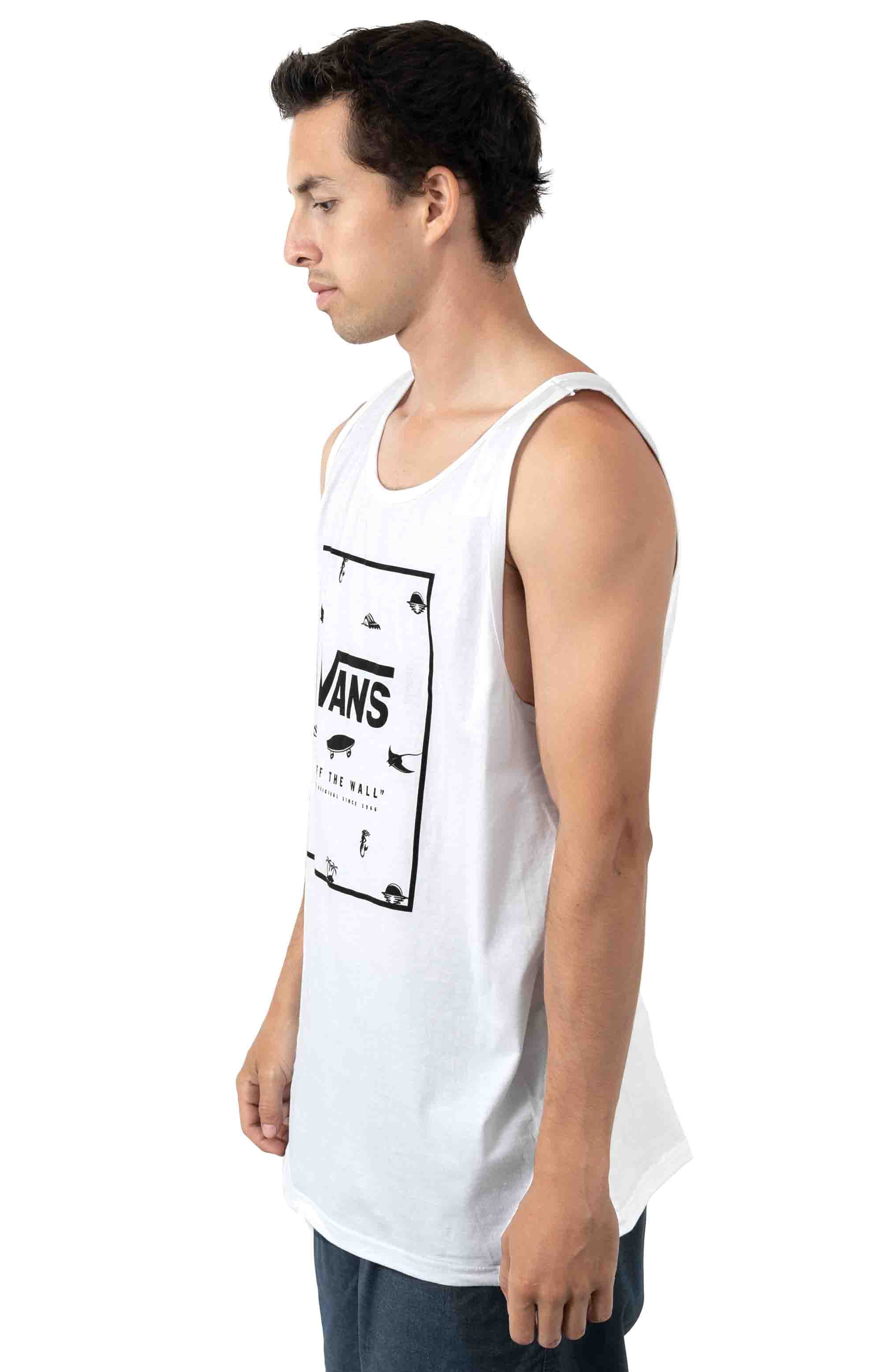 Print Box Tank Top - White 2