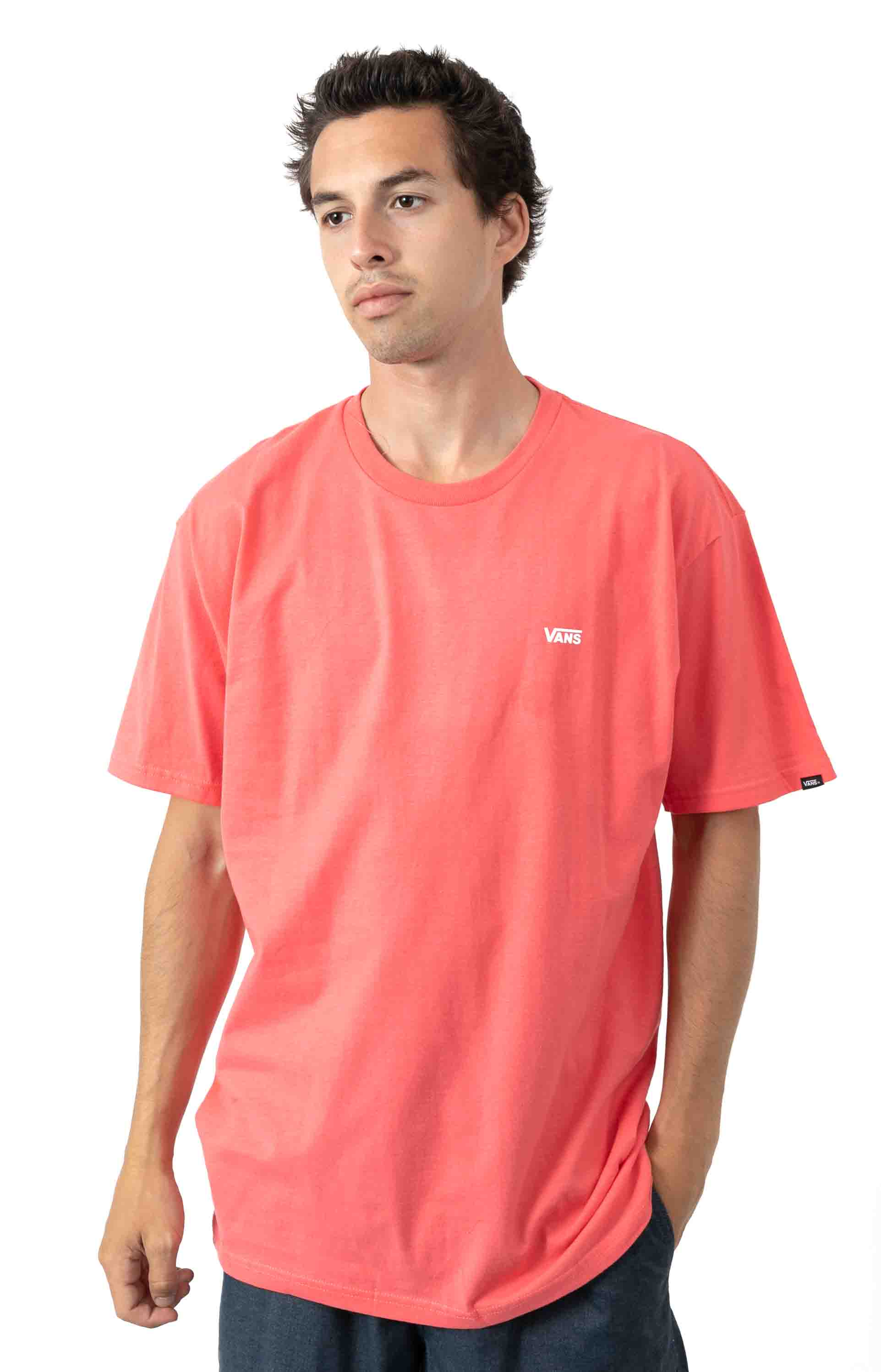 Left Chest Logo T-Shirt - Calypso Coral
