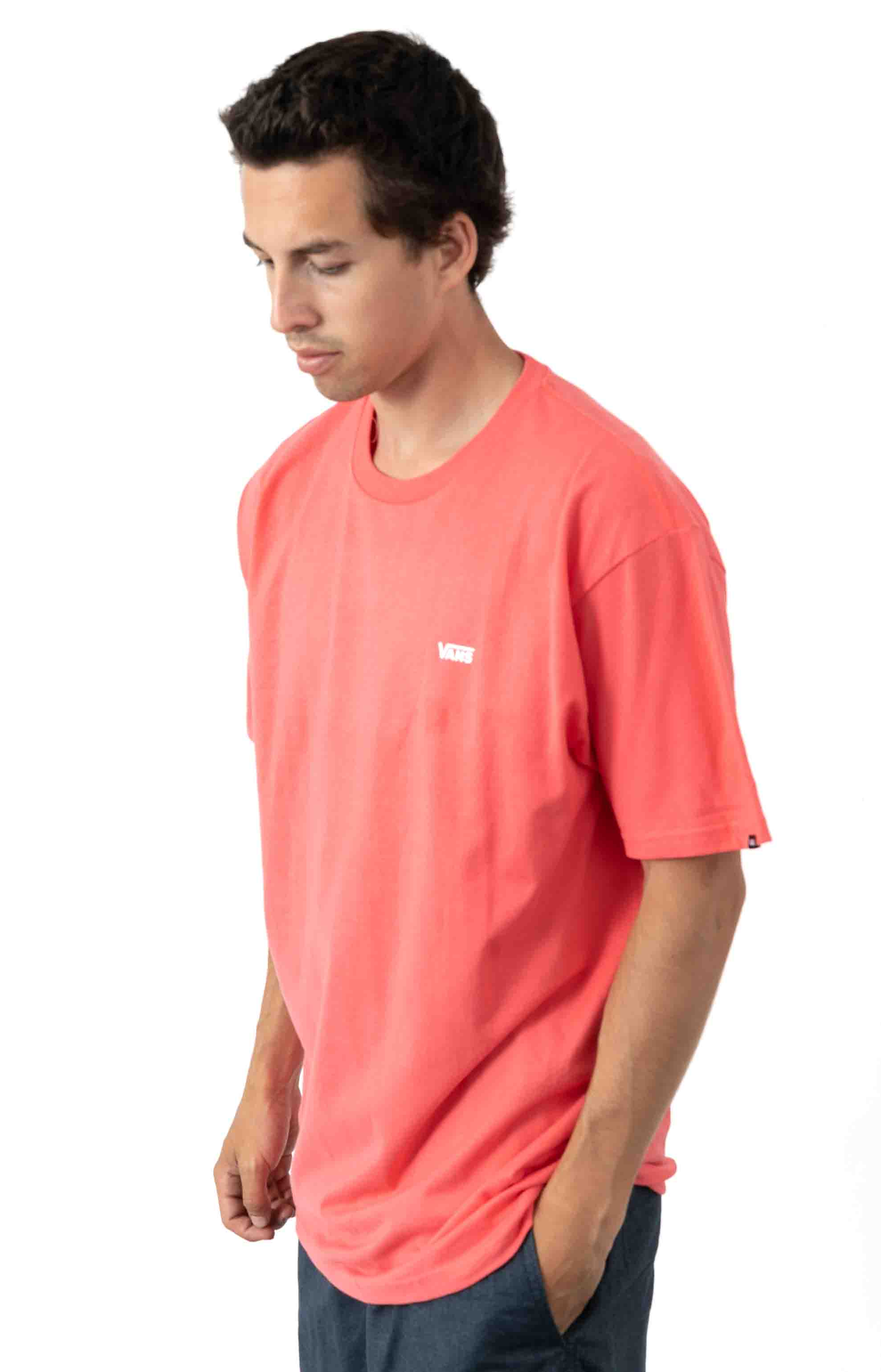 Left Chest Logo T-Shirt - Calypso Coral  2
