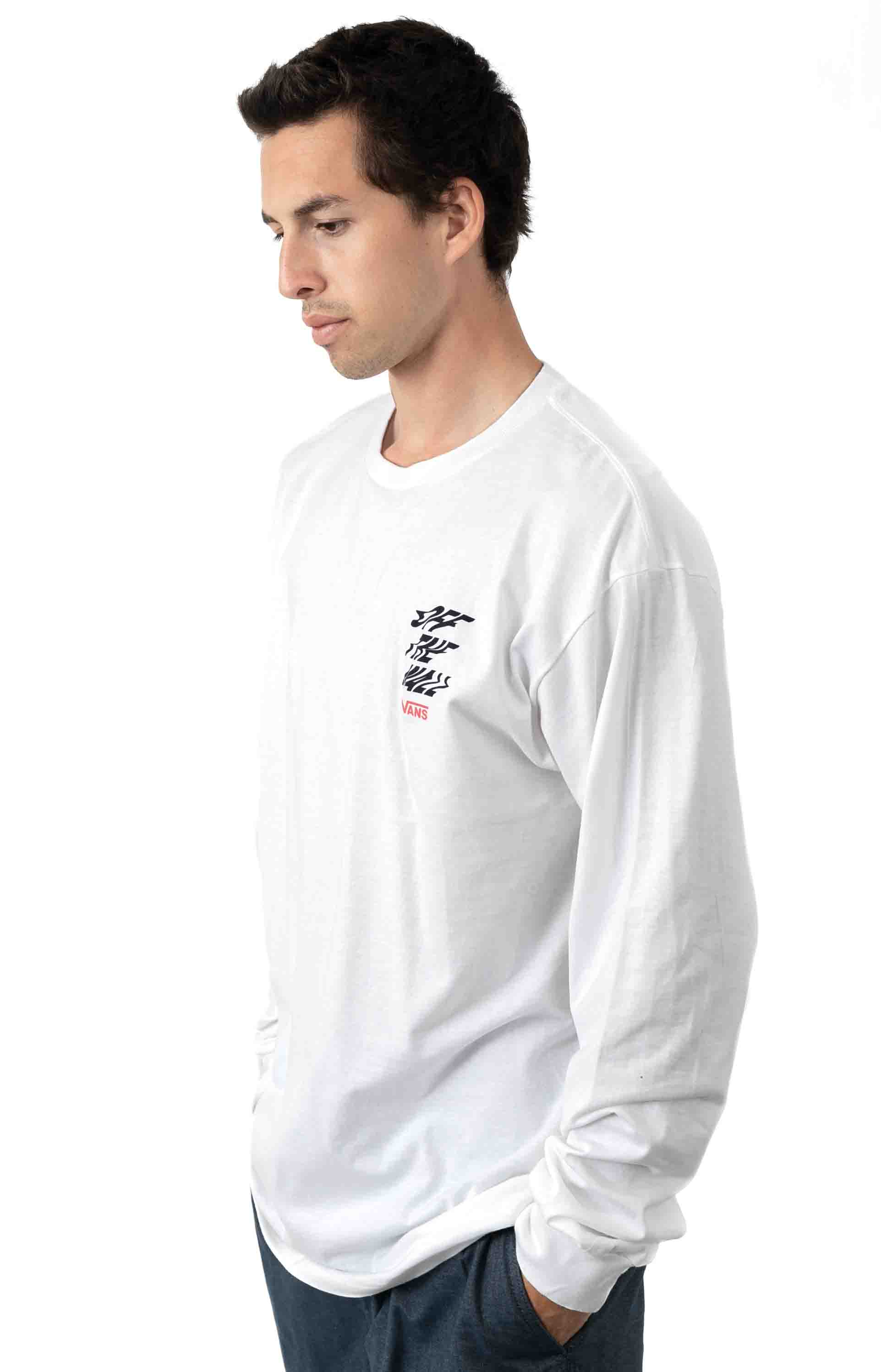 V66 Off The Wall L/S Shirt - White 3
