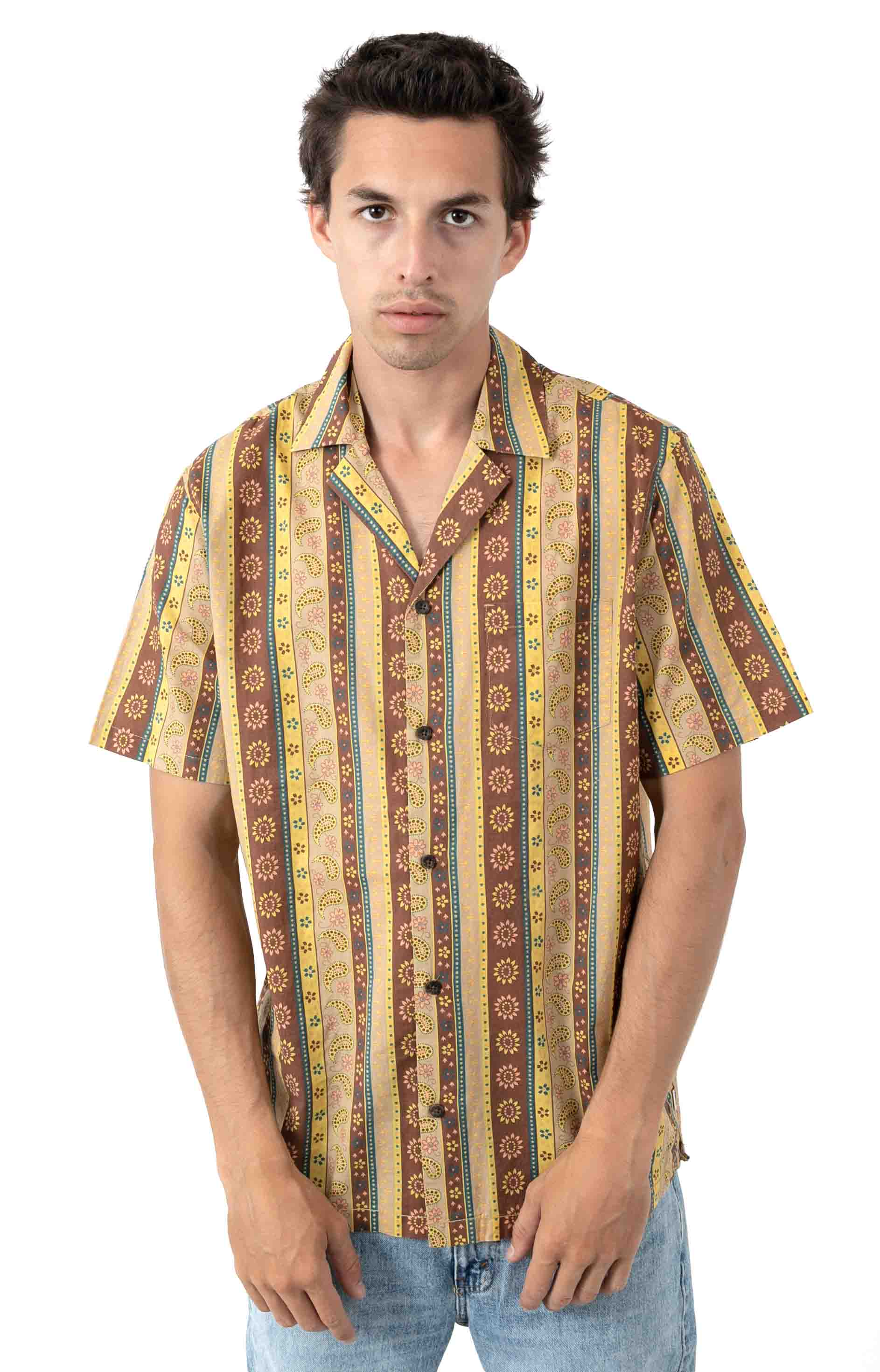 Bloomsbury S/S Button-Up Shirt - Ginger