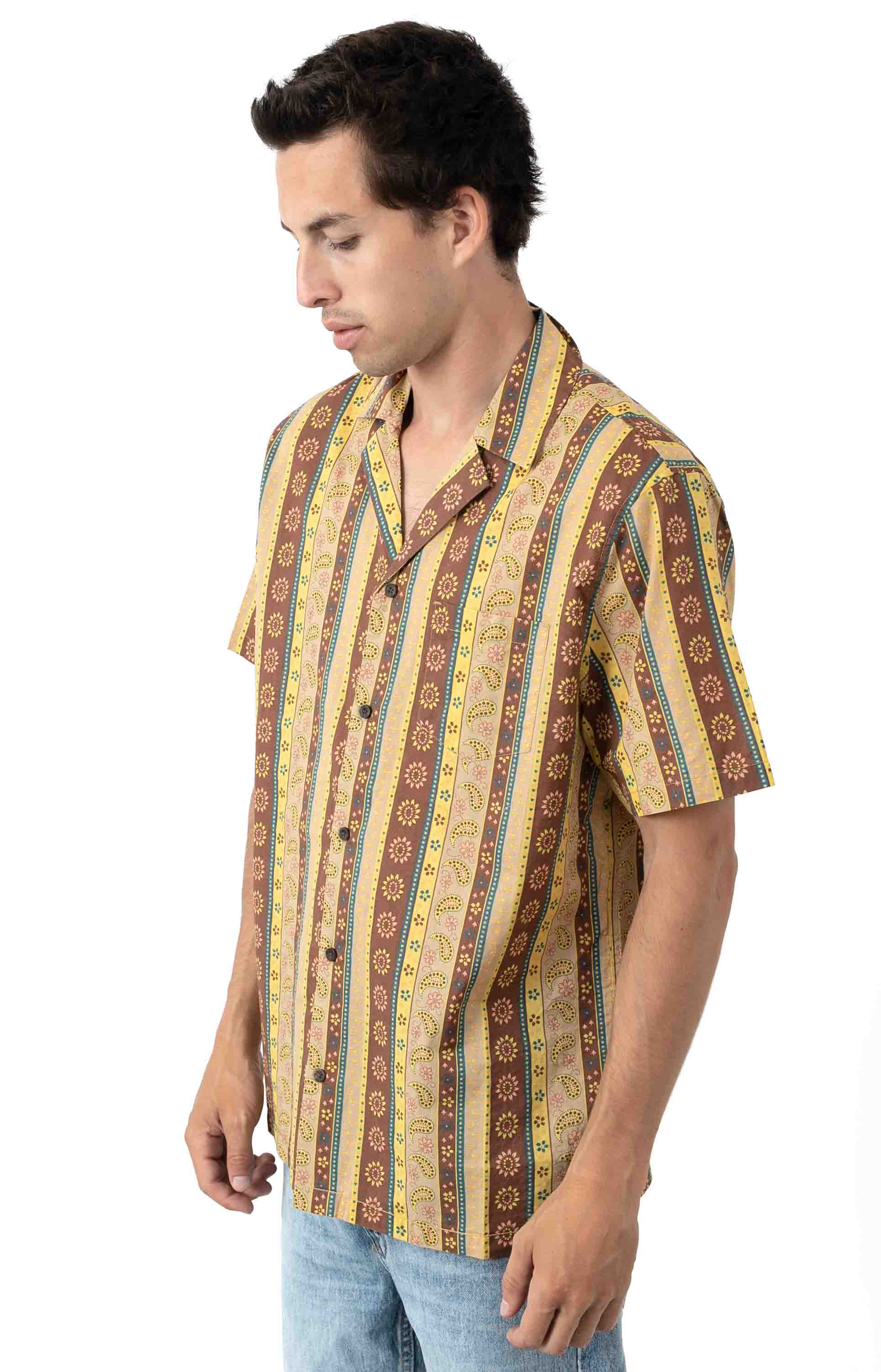 Bloomsbury S/S Button-Up Shirt - Ginger  2