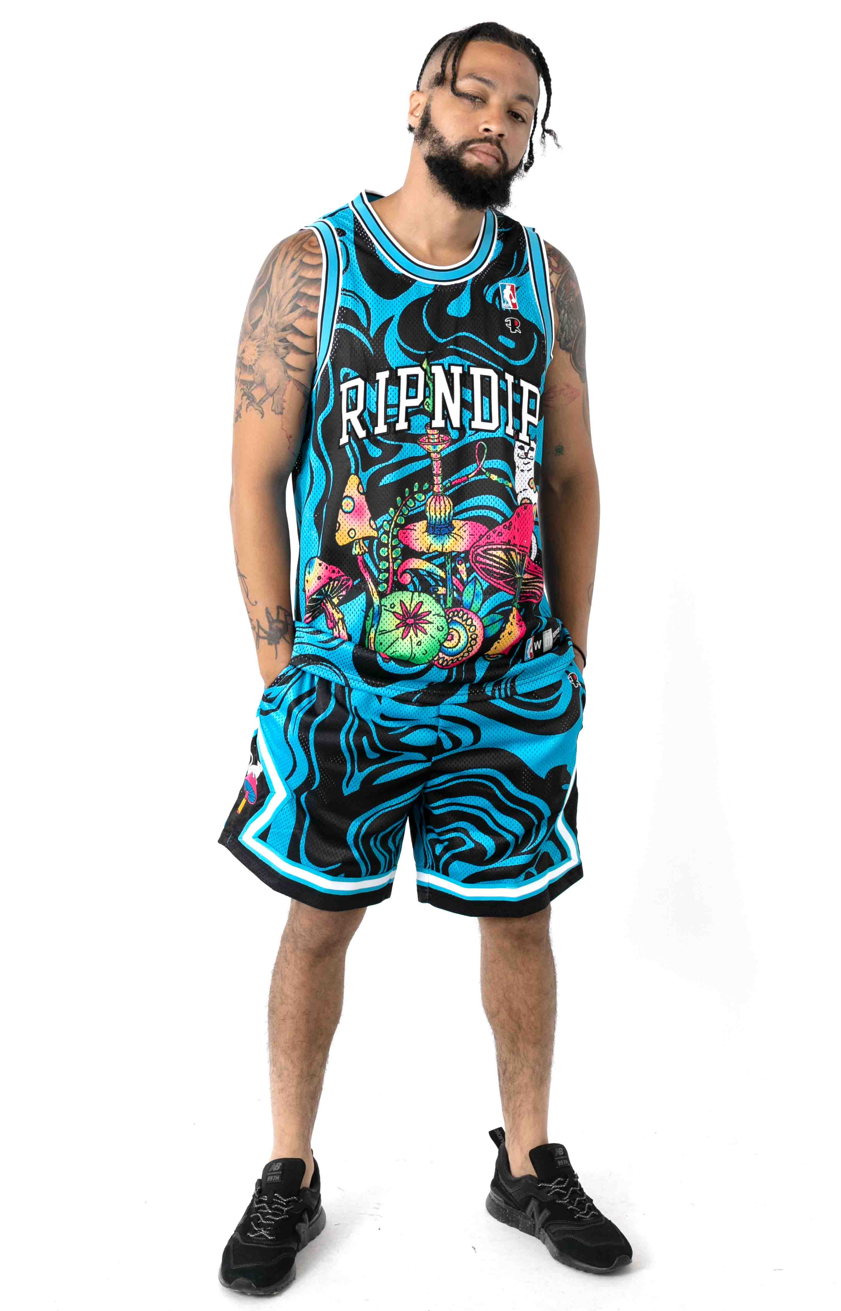 Psychedelic Basketball Shorts  4