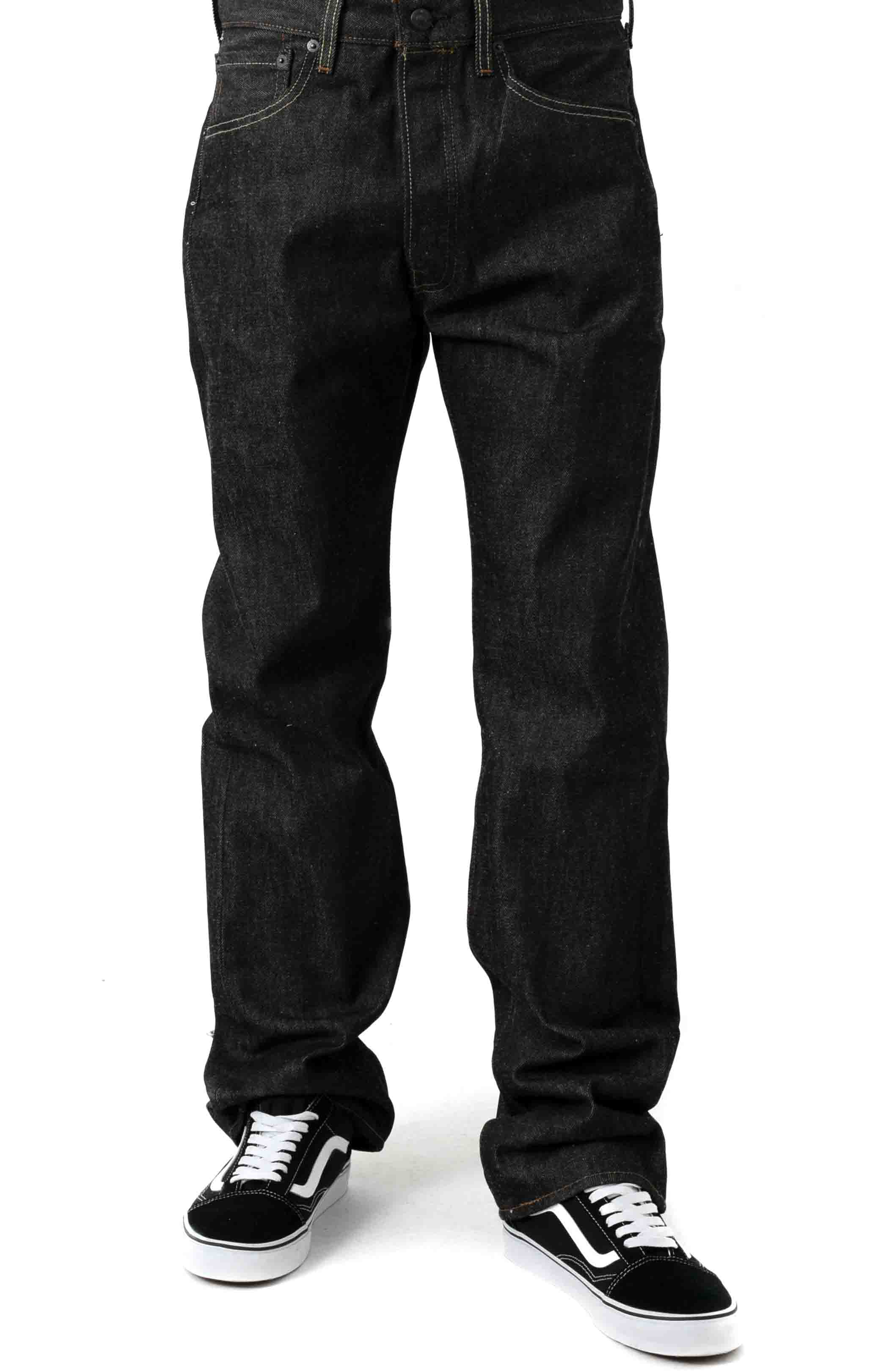 (501-0226) 501 Original Fit Jeans - Black STF  2