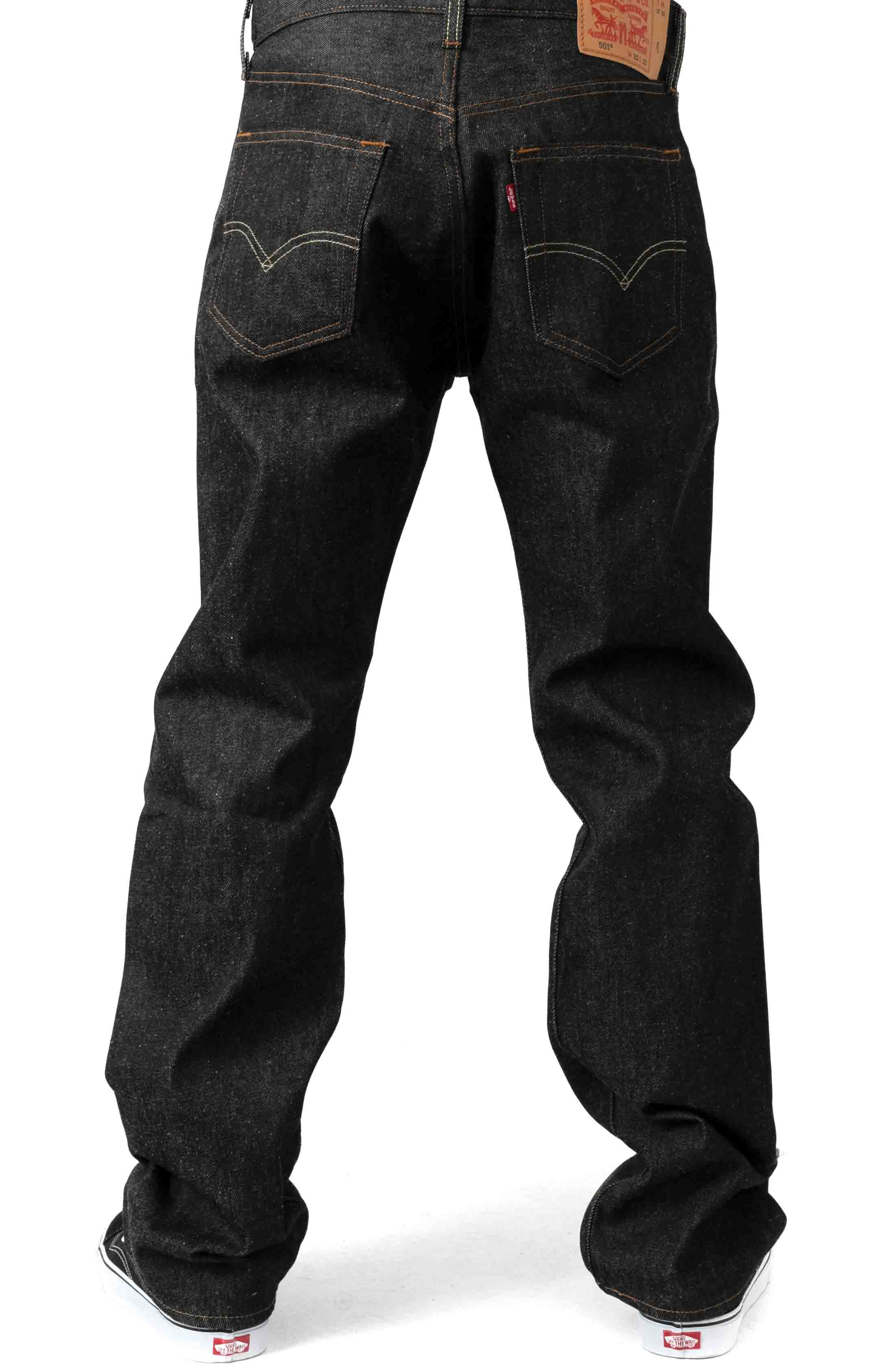 (501-0226) 501 Original Fit Jeans - Black STF  3