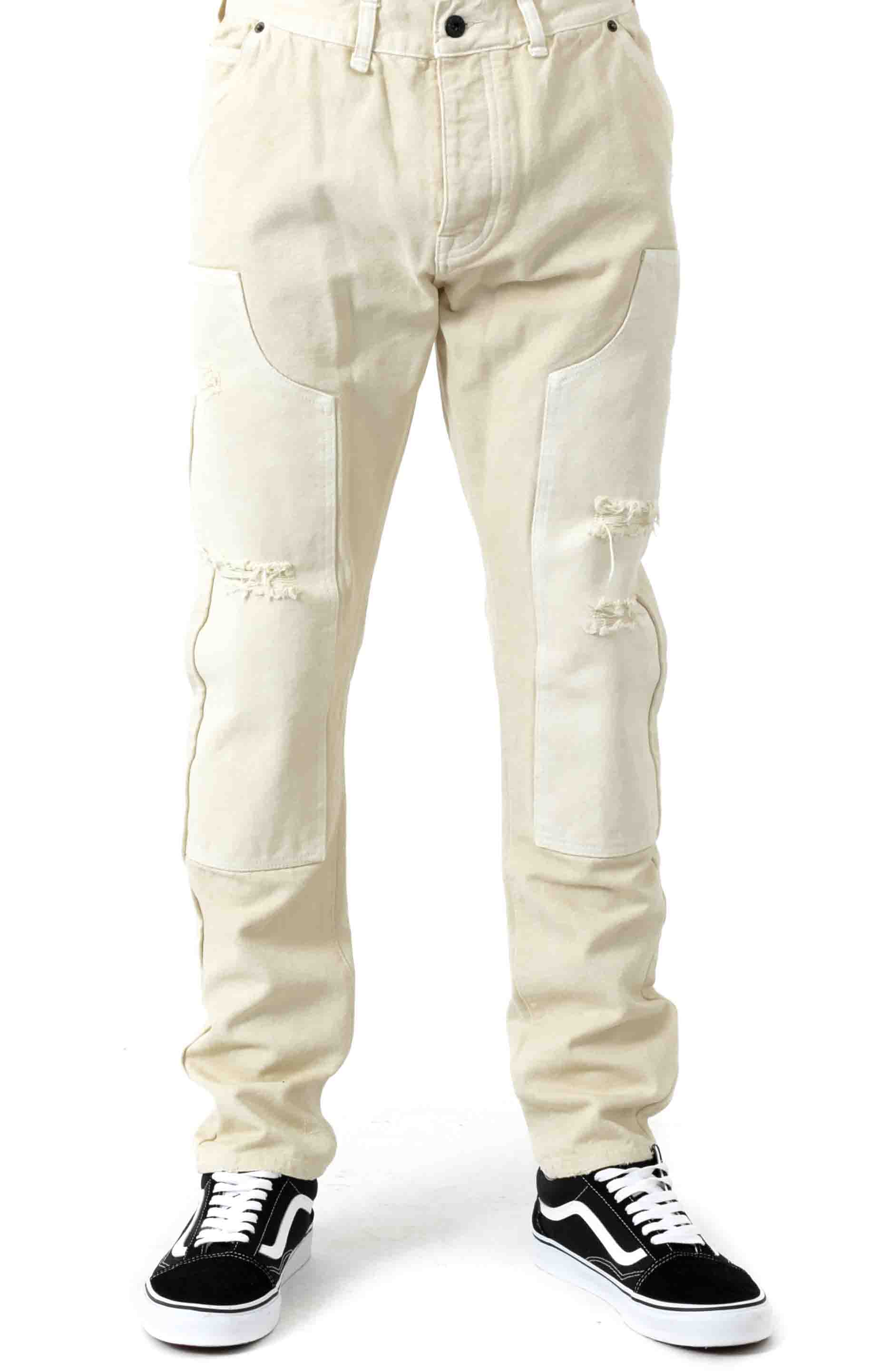 Reinforced Carpenter Pants - Off White  2