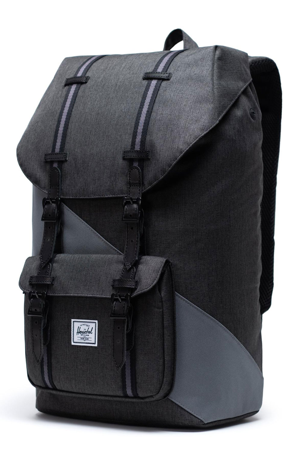 Little America Backpack - Black X/Quiet Shade/Periscope  3