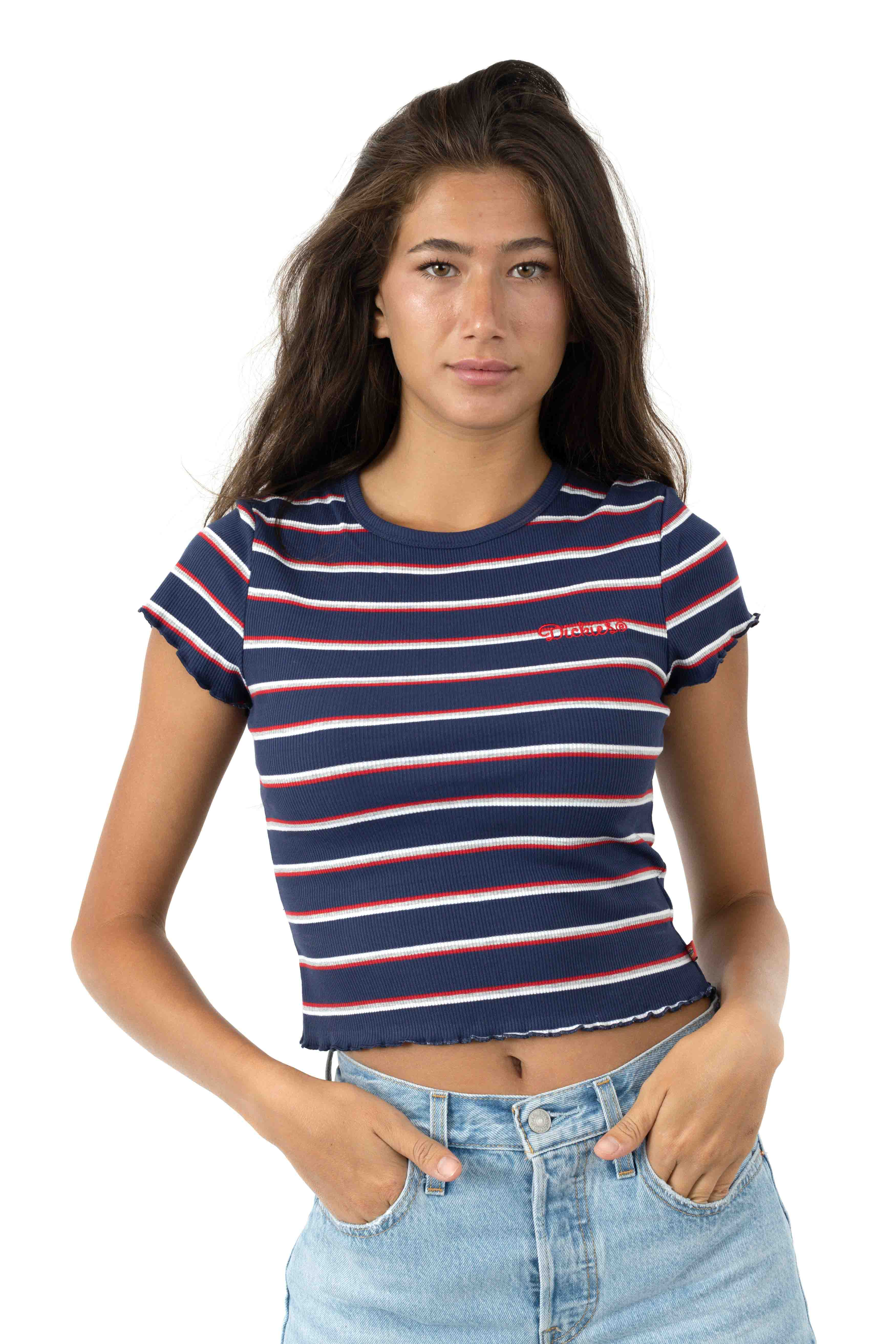 Scripty Dickies T-Shirt - Navy/White/Red