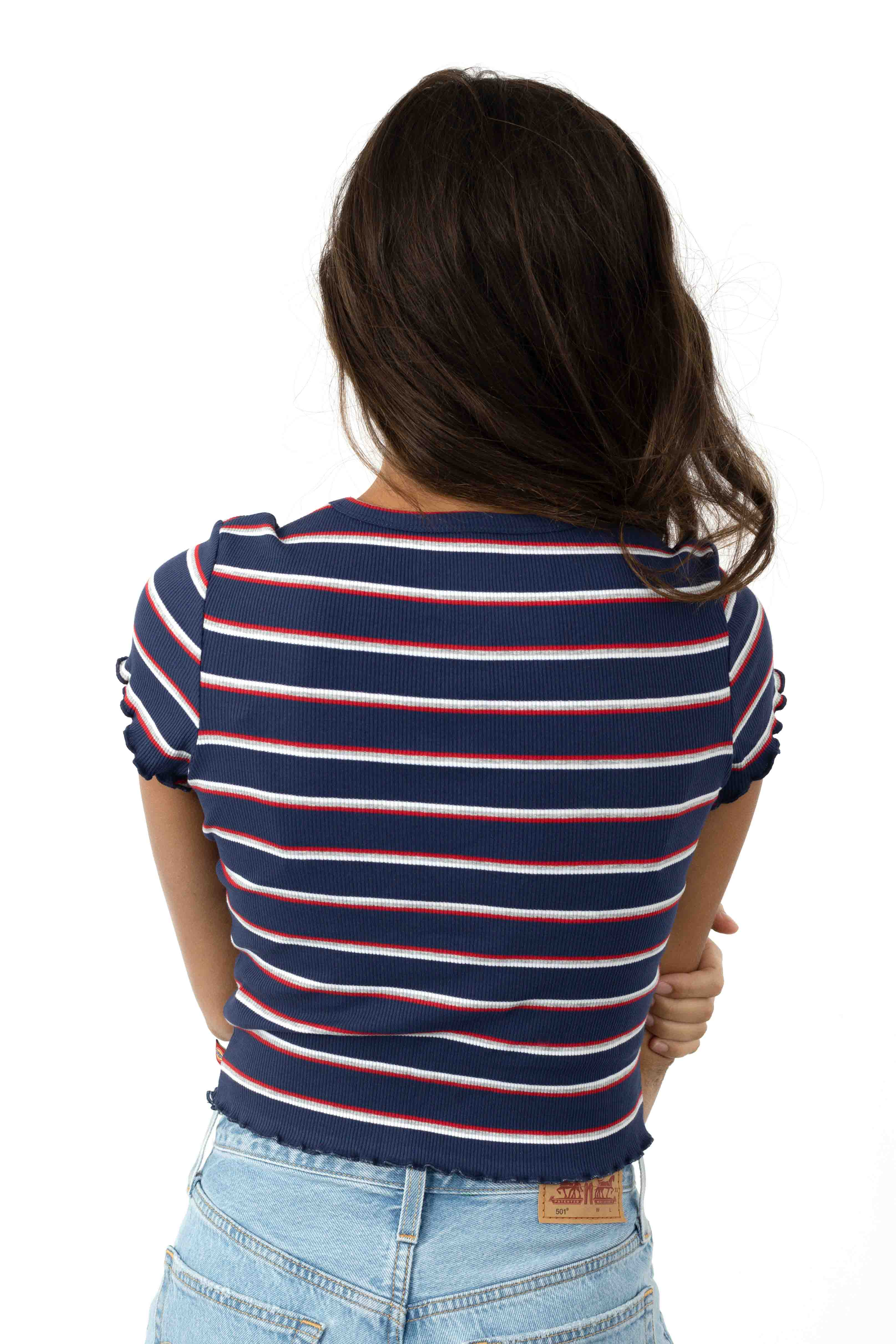 Scripty Dickies T-Shirt - Navy/White/Red 3