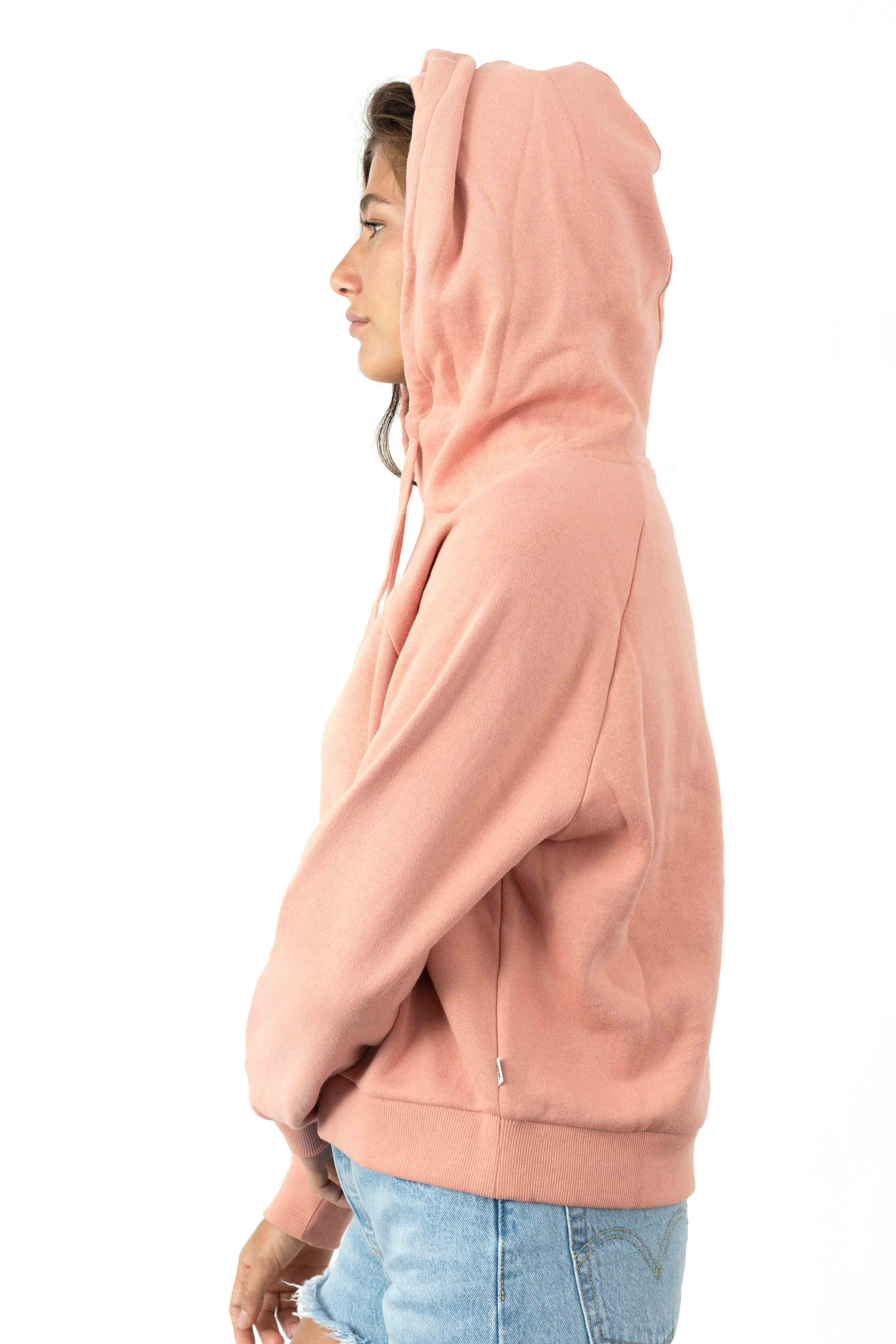 Flying V Boxy Pullover Hoodie - Rose Dawn 2