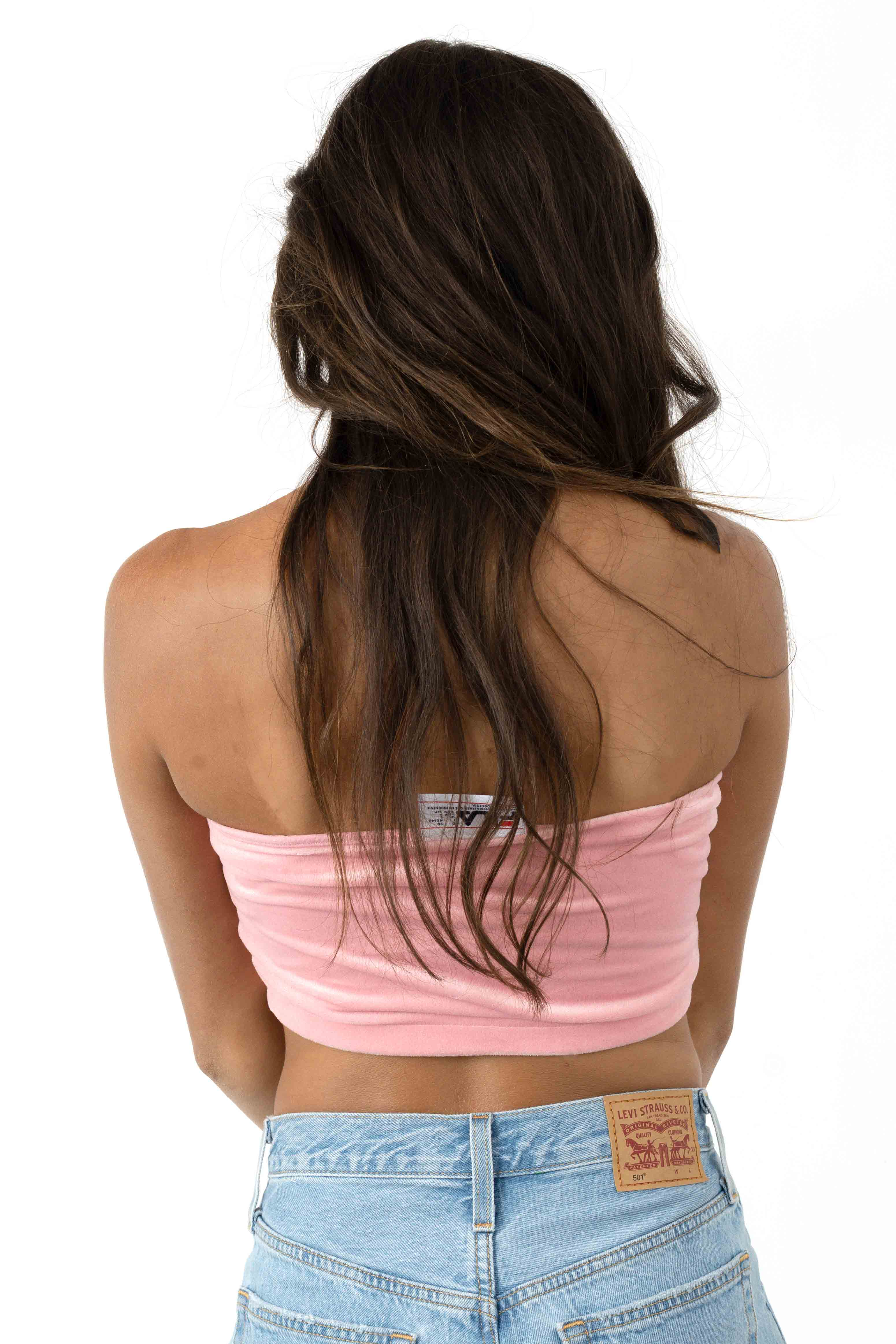 Iman Bandeau Top - Candy Pink 3