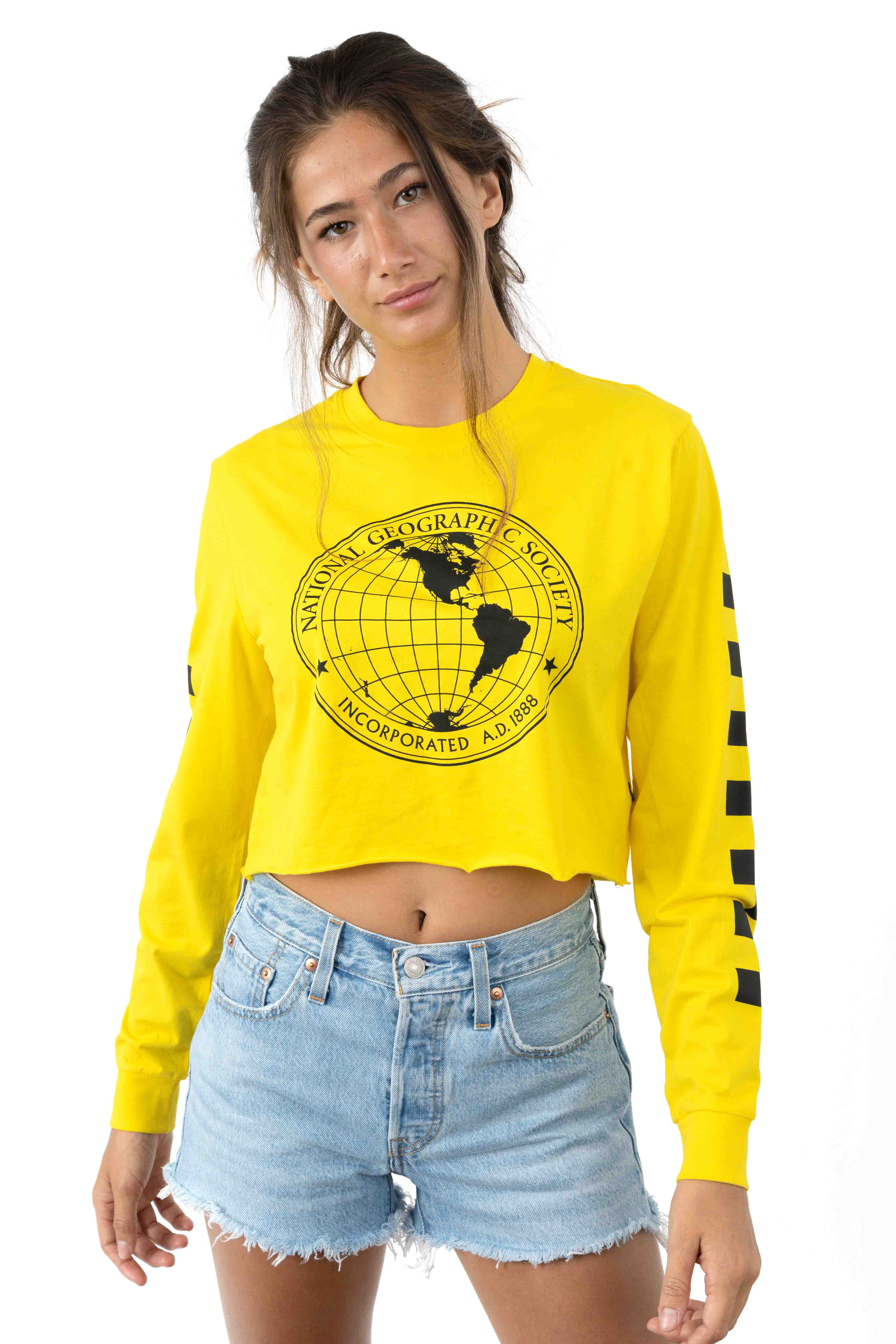 Nat Geo L/S Tee - Yellow