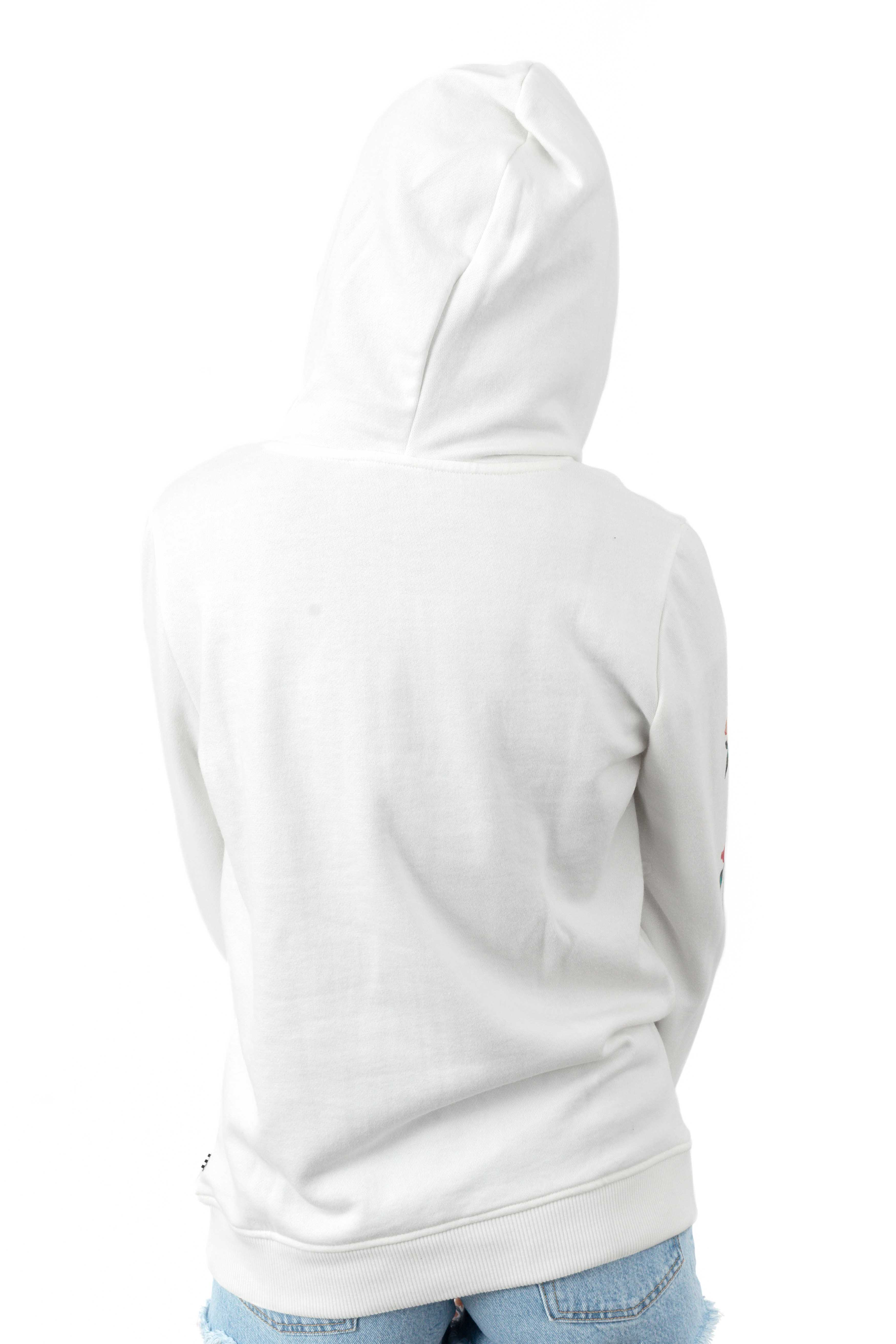 Barbed Floral Pullover Hoodie - Marshmallow  3