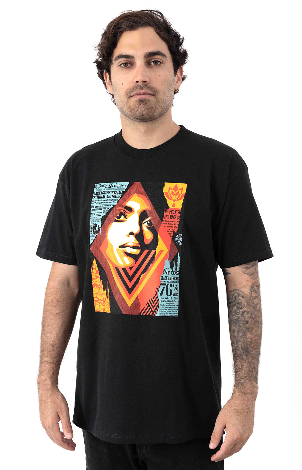 Obey Bias By Numbers T-Shirt - Black