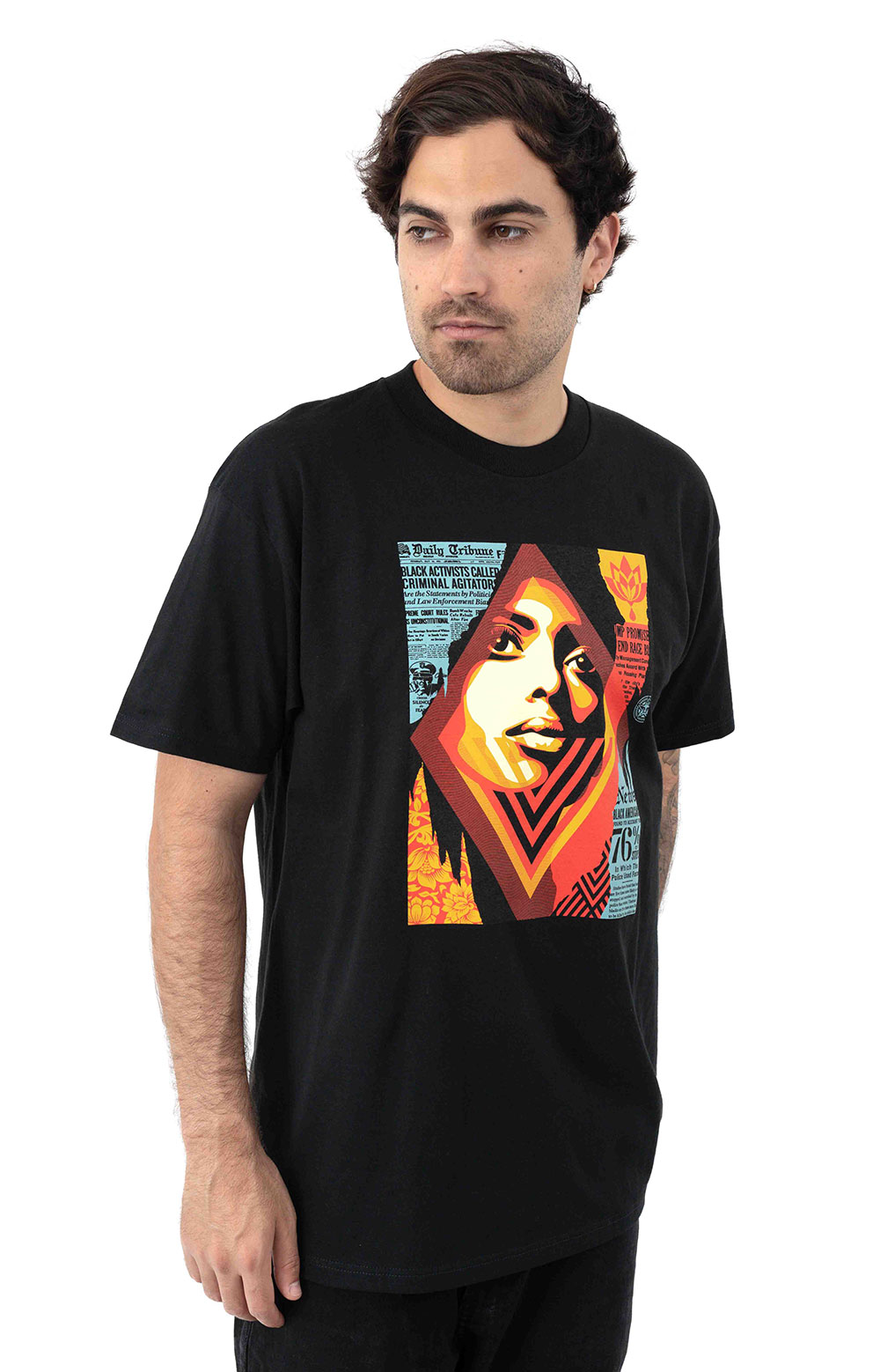 Obey Bias By Numbers T-Shirt - Black 2