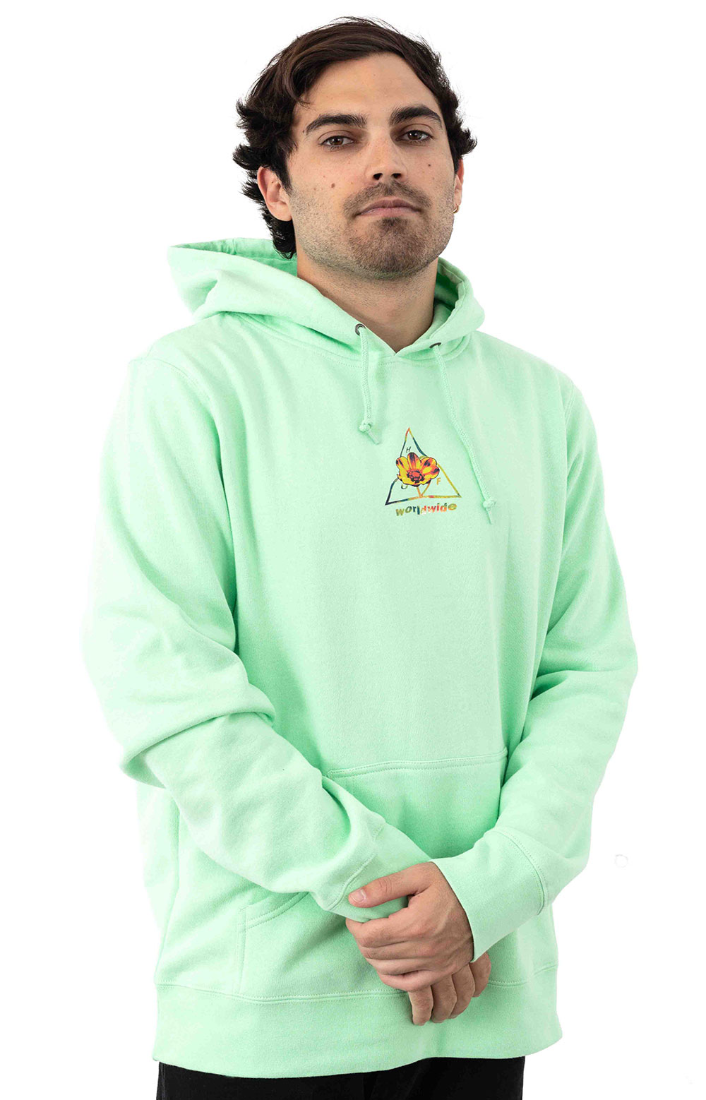 Come Down TT Pullover Hoodie - Neo Mint 2
