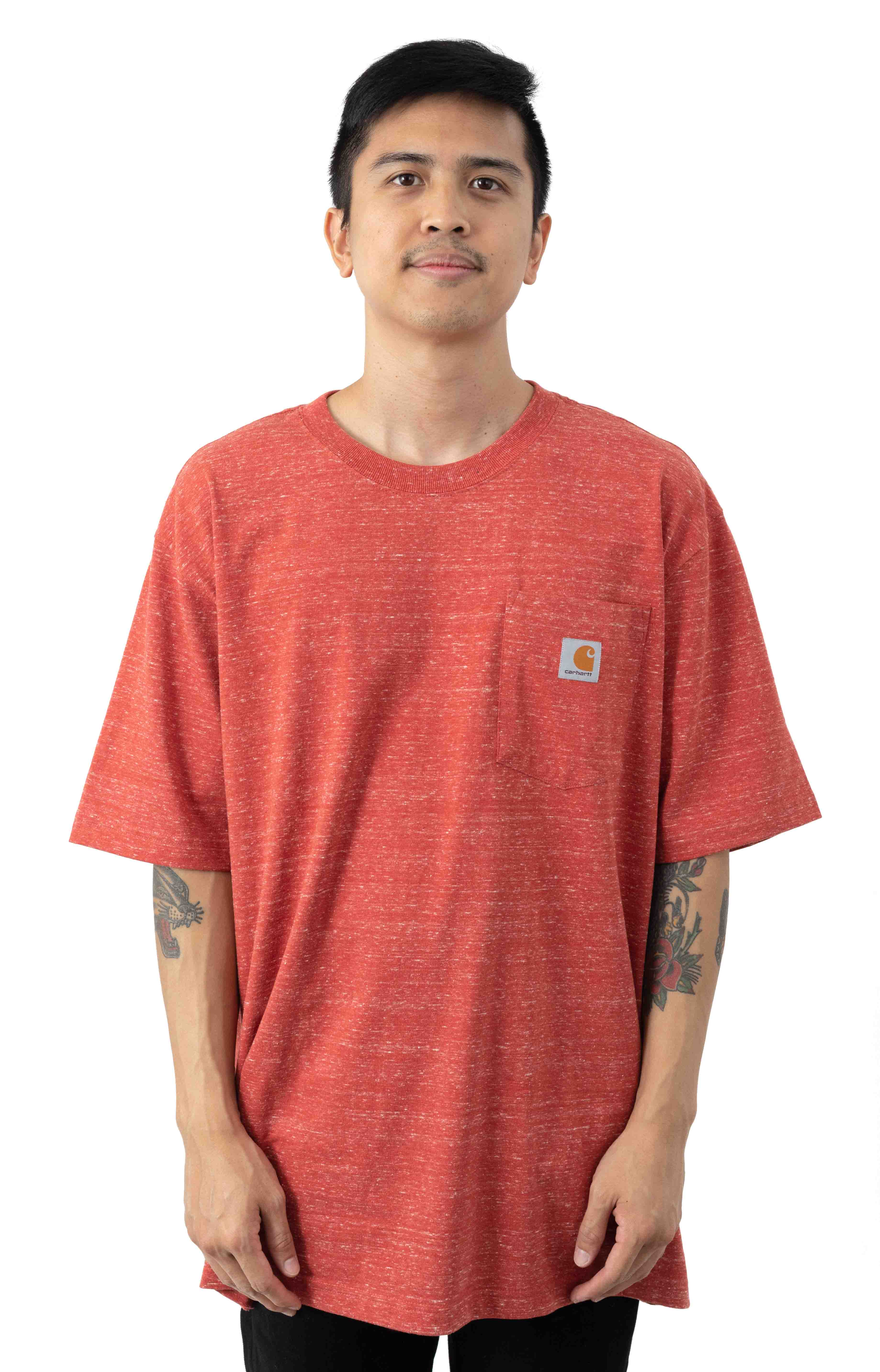 (K87) Workwear Pocket T-Shirt - Cayenne Snow Heather