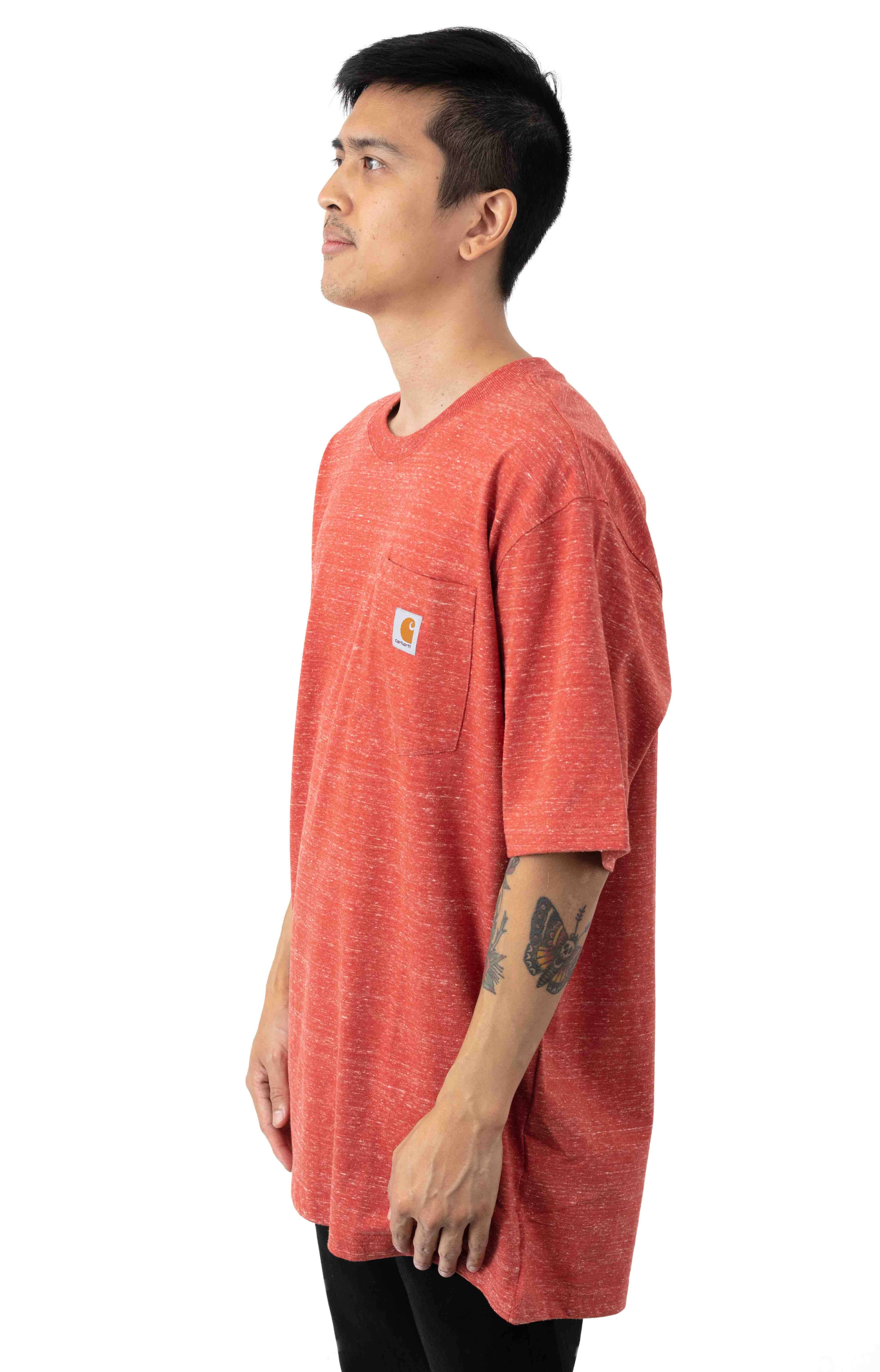 (K87) Workwear Pocket T-Shirt - Cayenne Snow Heather 2