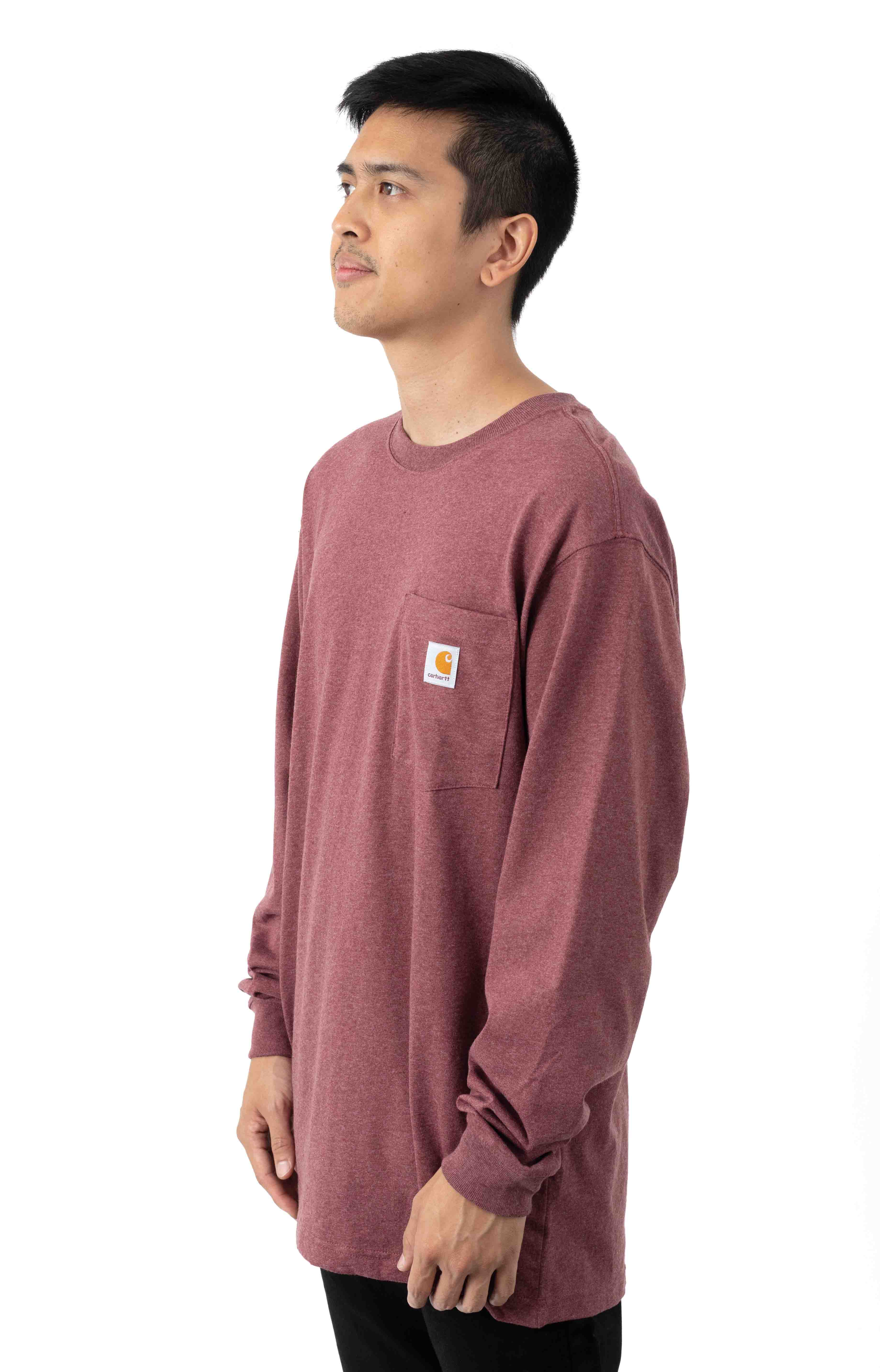 (K126) L/S Workwear Pocket Shirt - Iron Ore Heather  2