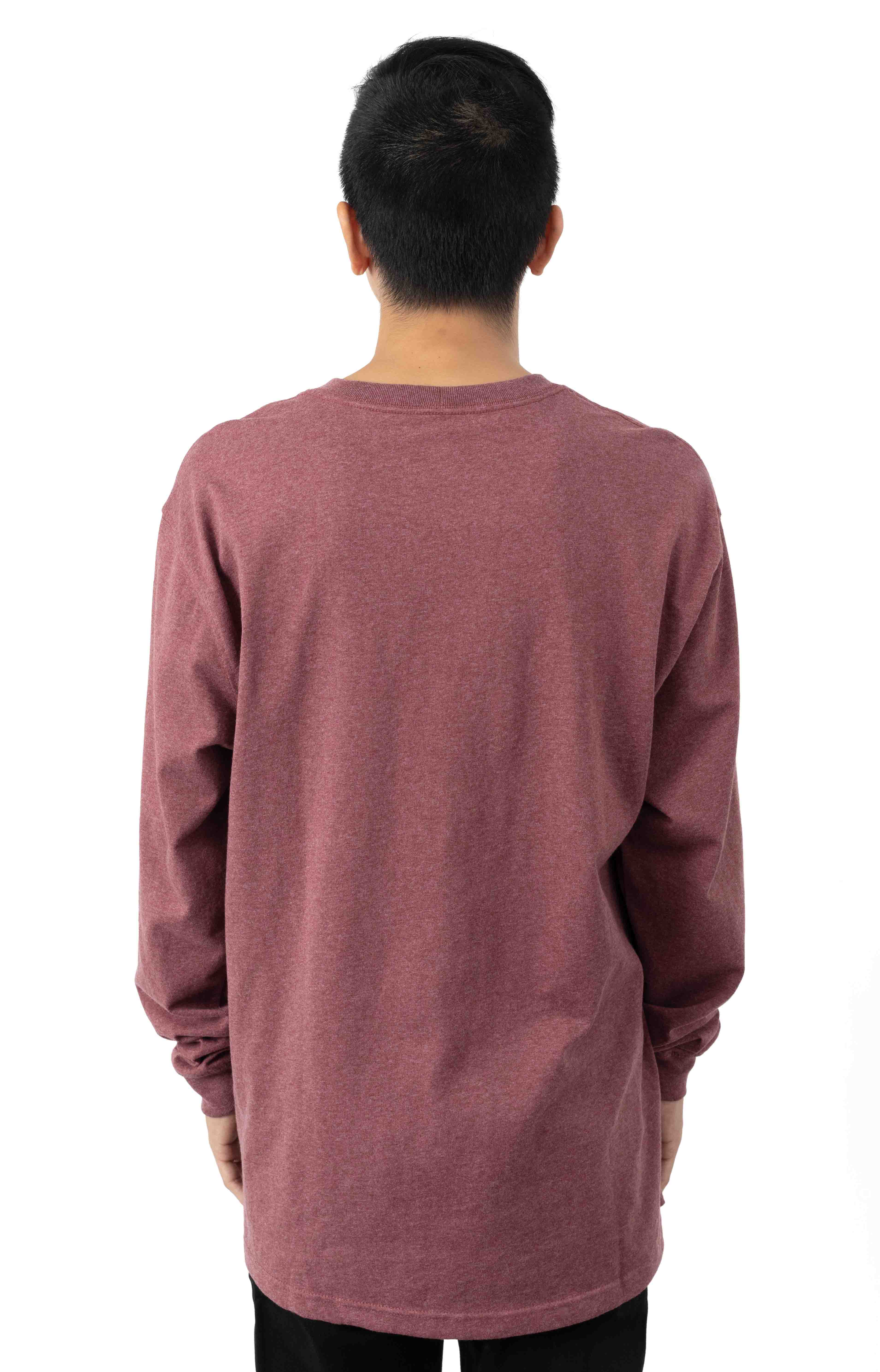 (K126) L/S Workwear Pocket Shirt - Iron Ore Heather  3