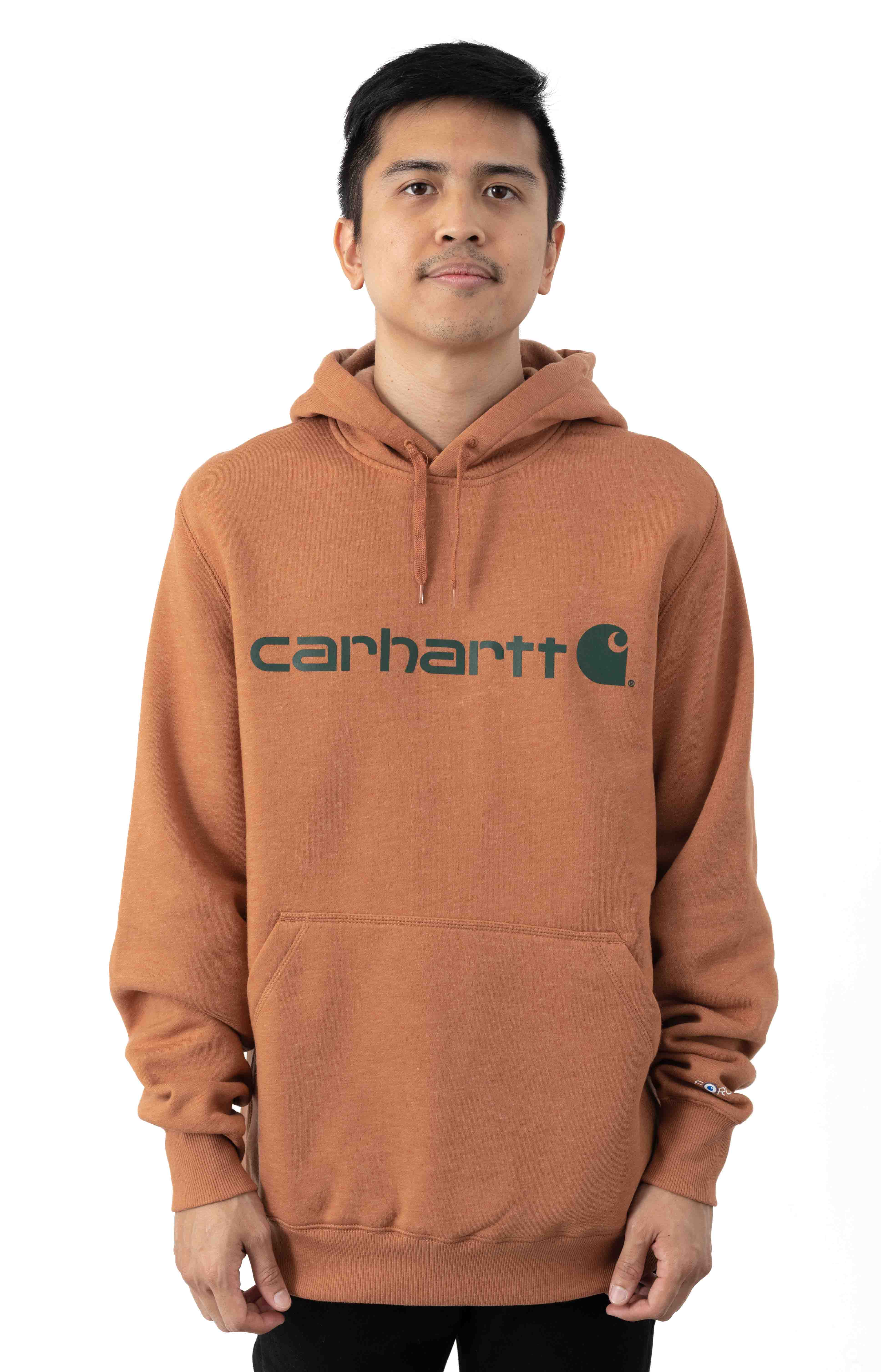(103873) Force Delmont Signature Graphic Pullover Hoodie - Copper Heather