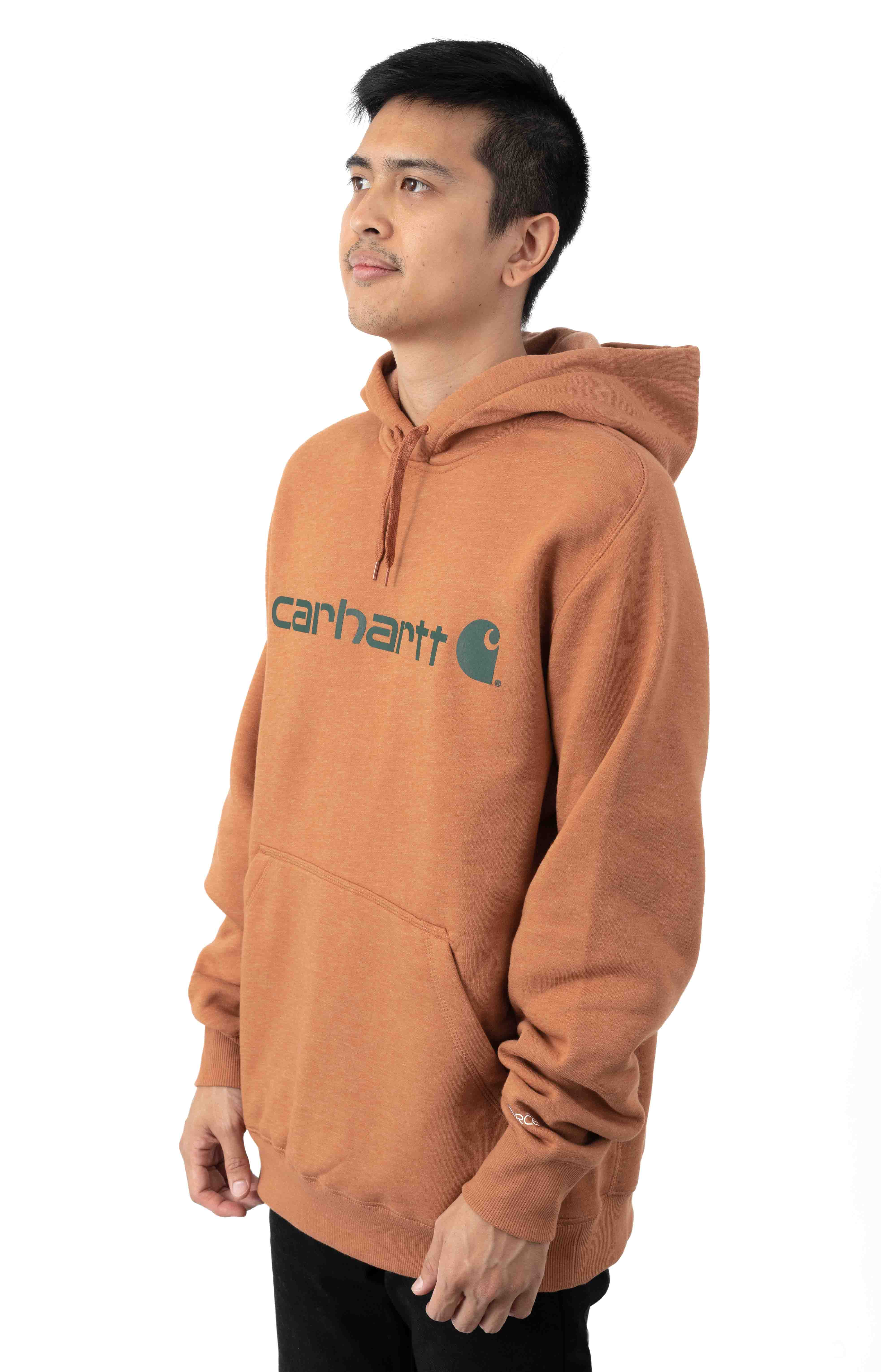 (103873) Force Delmont Signature Graphic Pullover Hoodie - Copper Heather  2