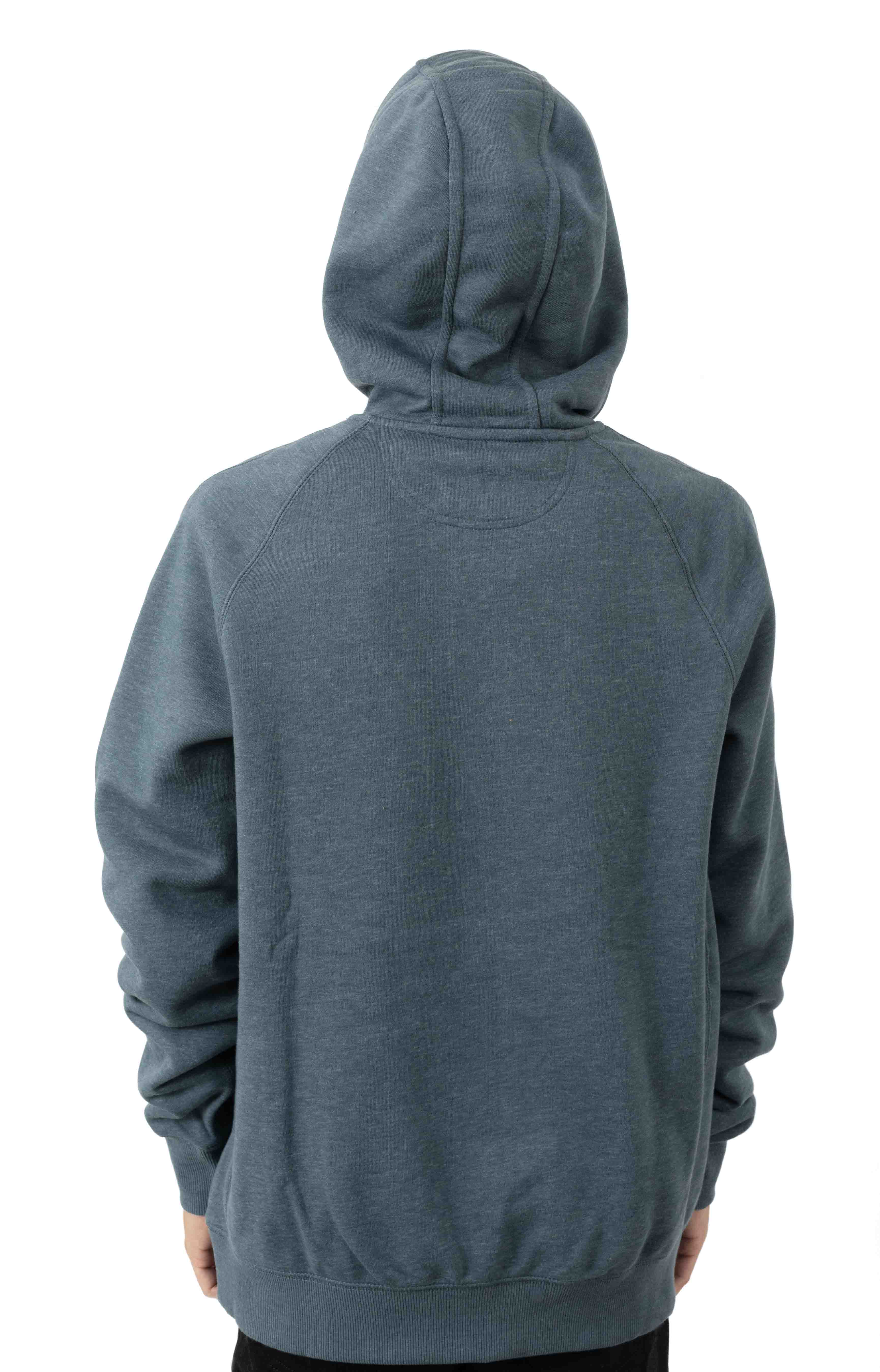 (103873) Force Delmont Signature Graphic Pullover Hoodie - Ink Green Heather  3