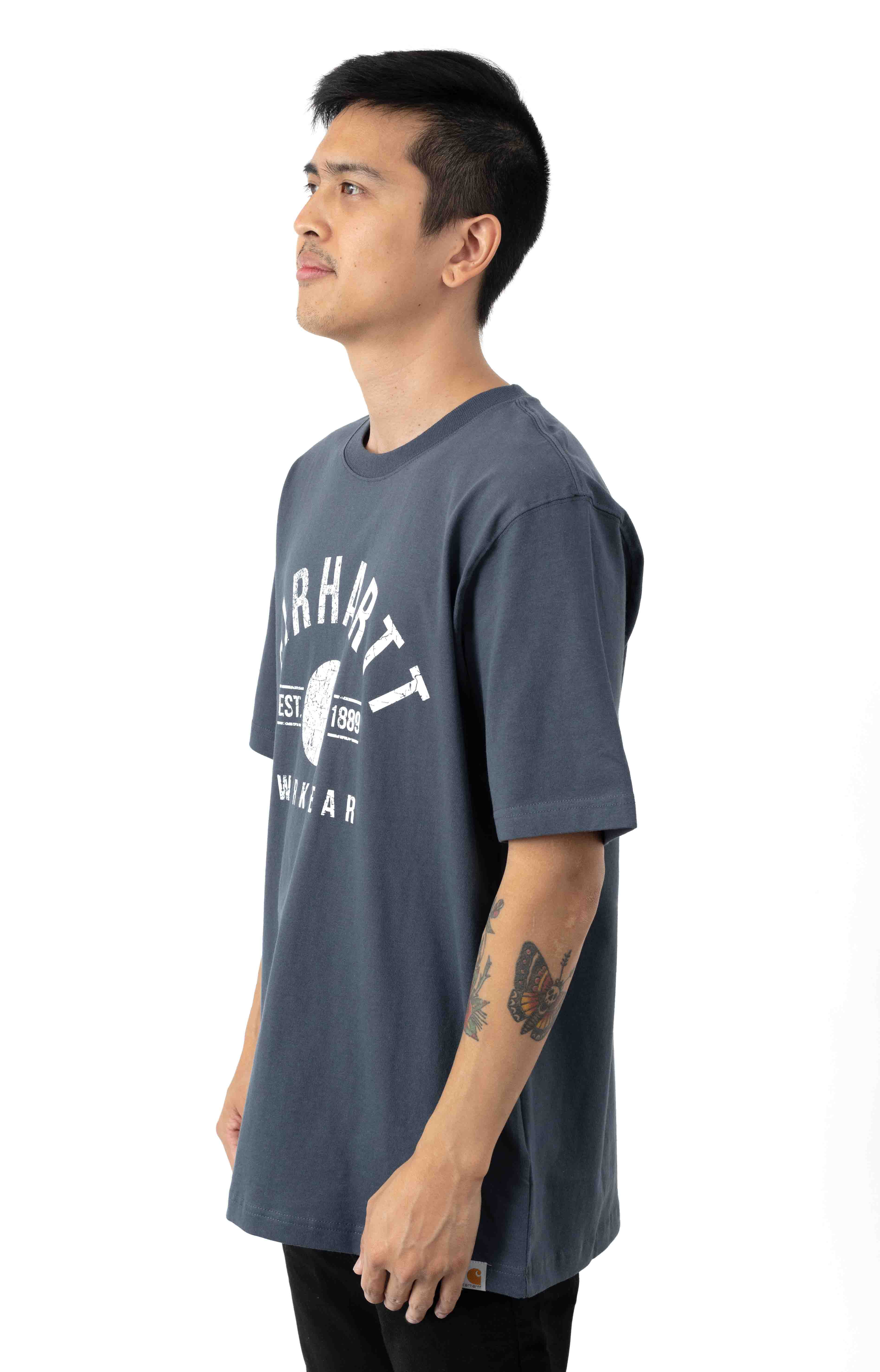 (104582) Relaxed-Fit Workwear Graphic T-Shirt - Bluestone  2