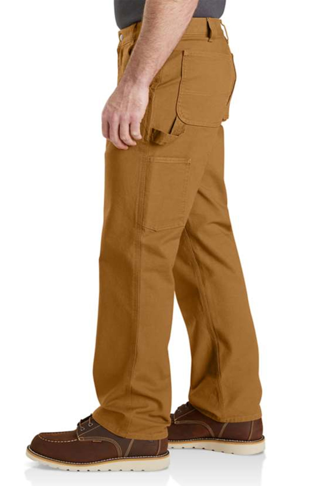 (103279) Rugged Flex Relaxed Fit Duck Dungaree - Carhartt Brown   4