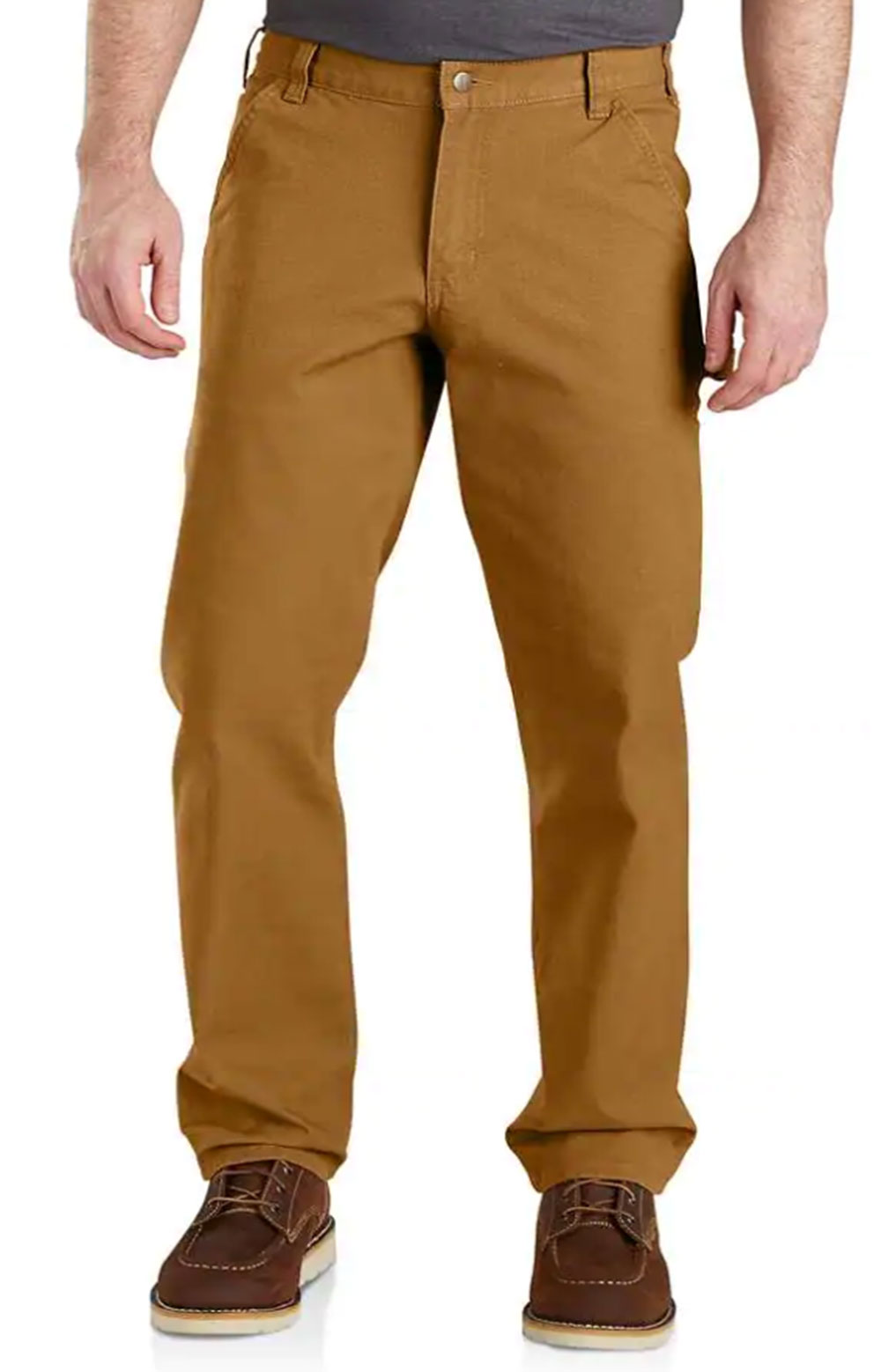 (103279) Rugged Flex Relaxed Fit Duck Dungaree - Carhartt Brown