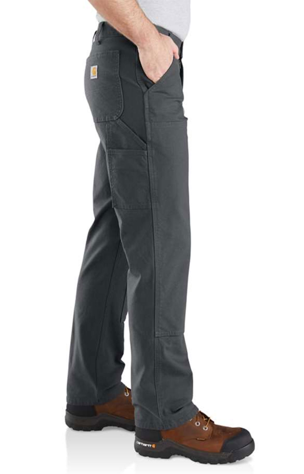 (103334) Rugged Flex Relaxed Fit Duck Double Front Pant - Shadow 3