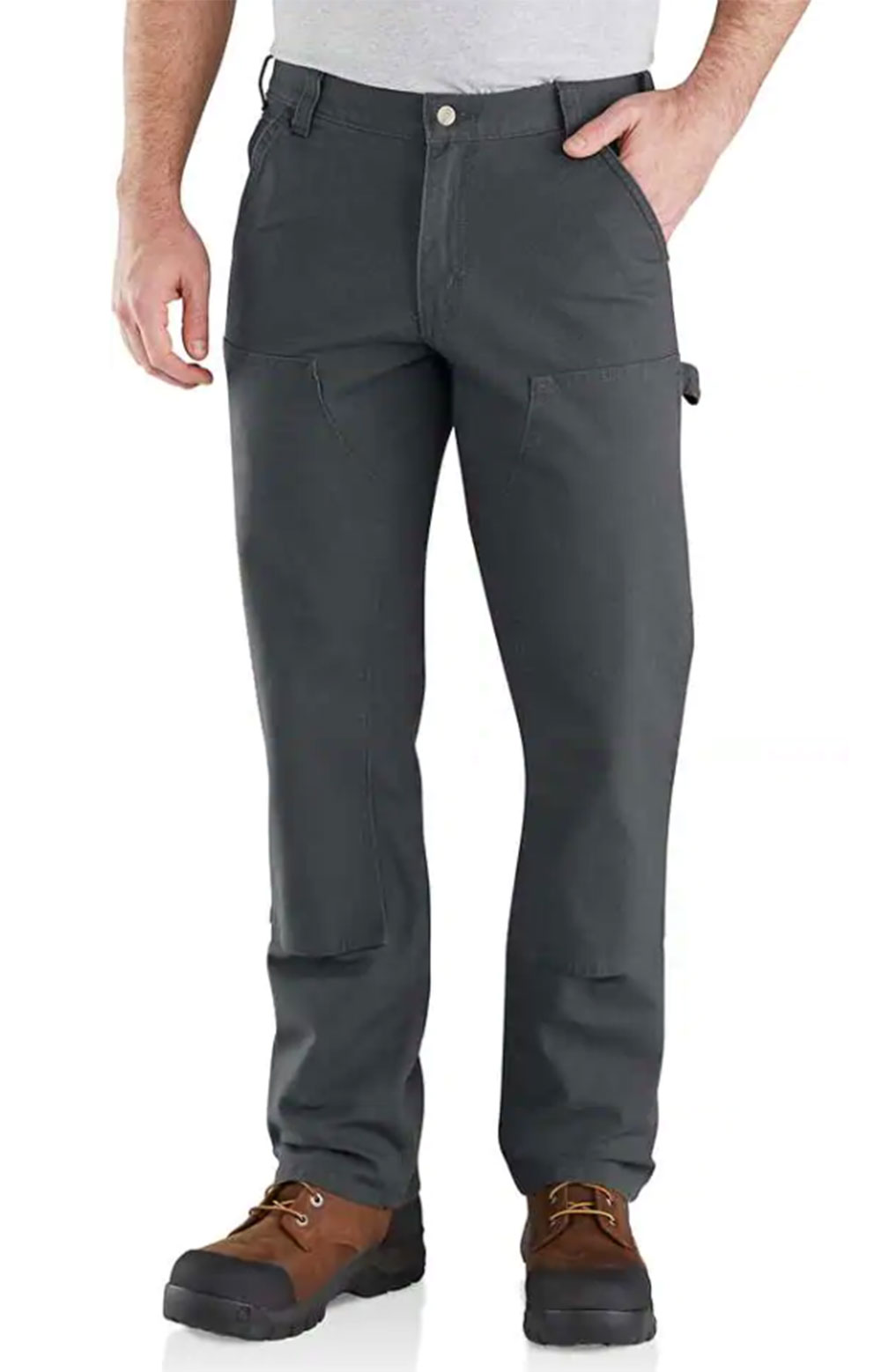 (103334) Rugged Flex Relaxed Fit Duck Double Front Pant - Shadow