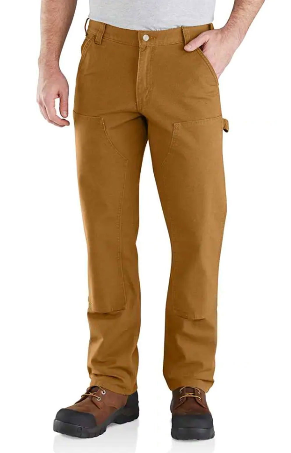 (103334) Rugged Flex Relaxed Fit Duck Double Front Pant - Carhartt Brown