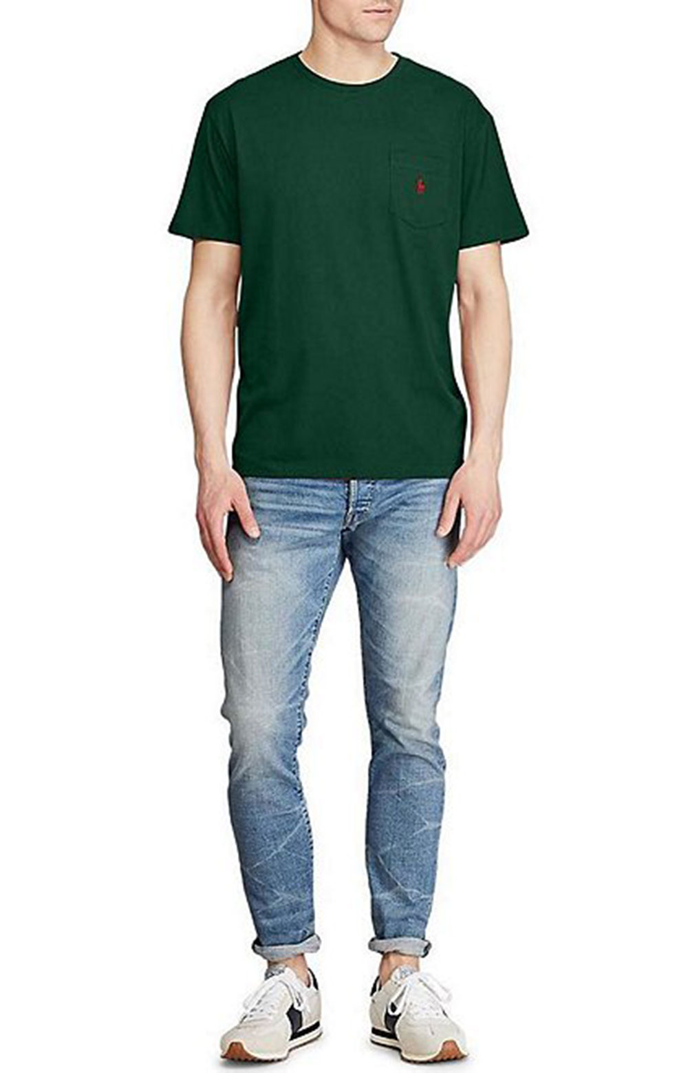 Classic Fit Cotton T-Shirt - College Green  3