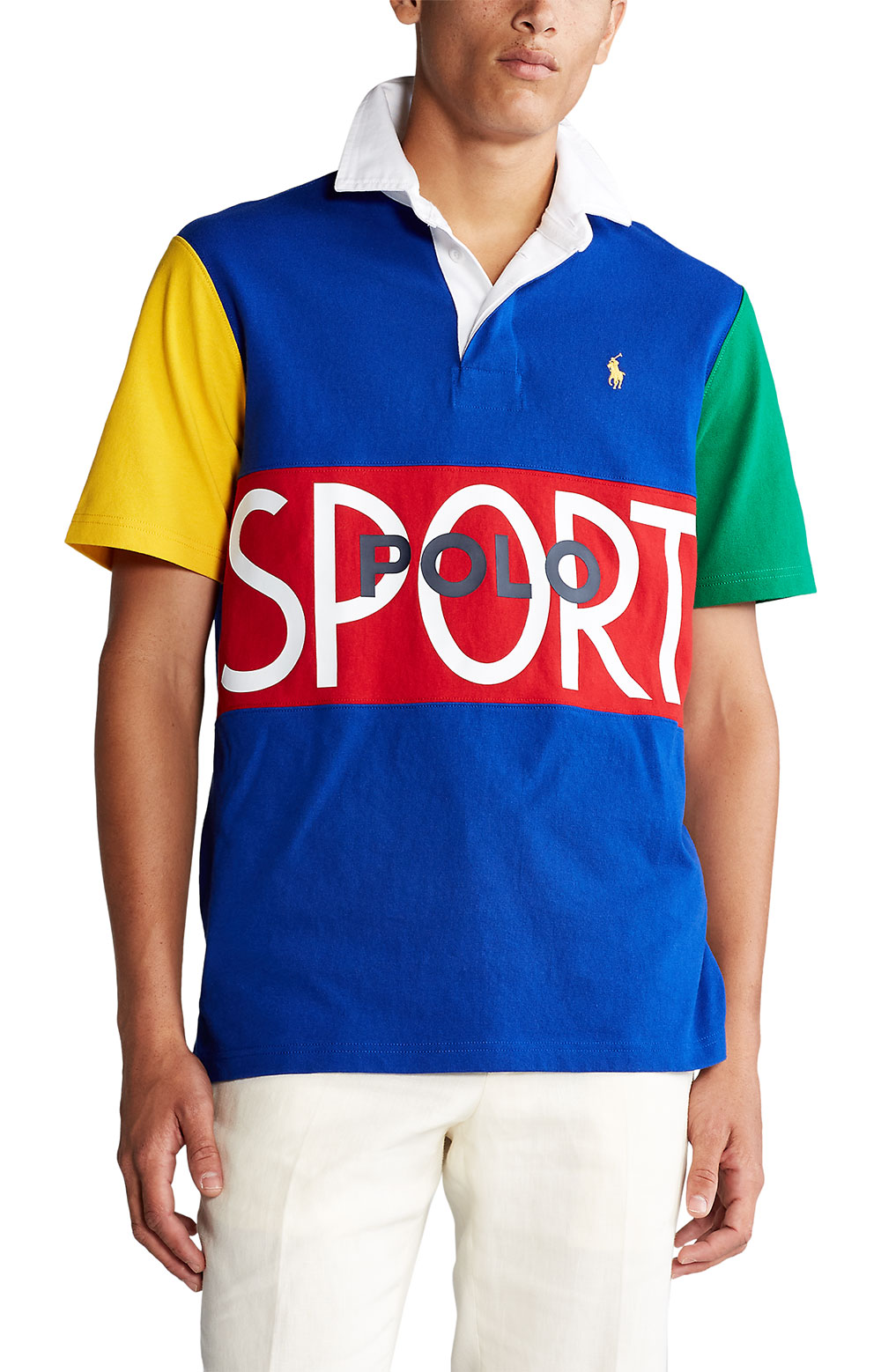 Classic Fit Polo Sport Rugby - Blue