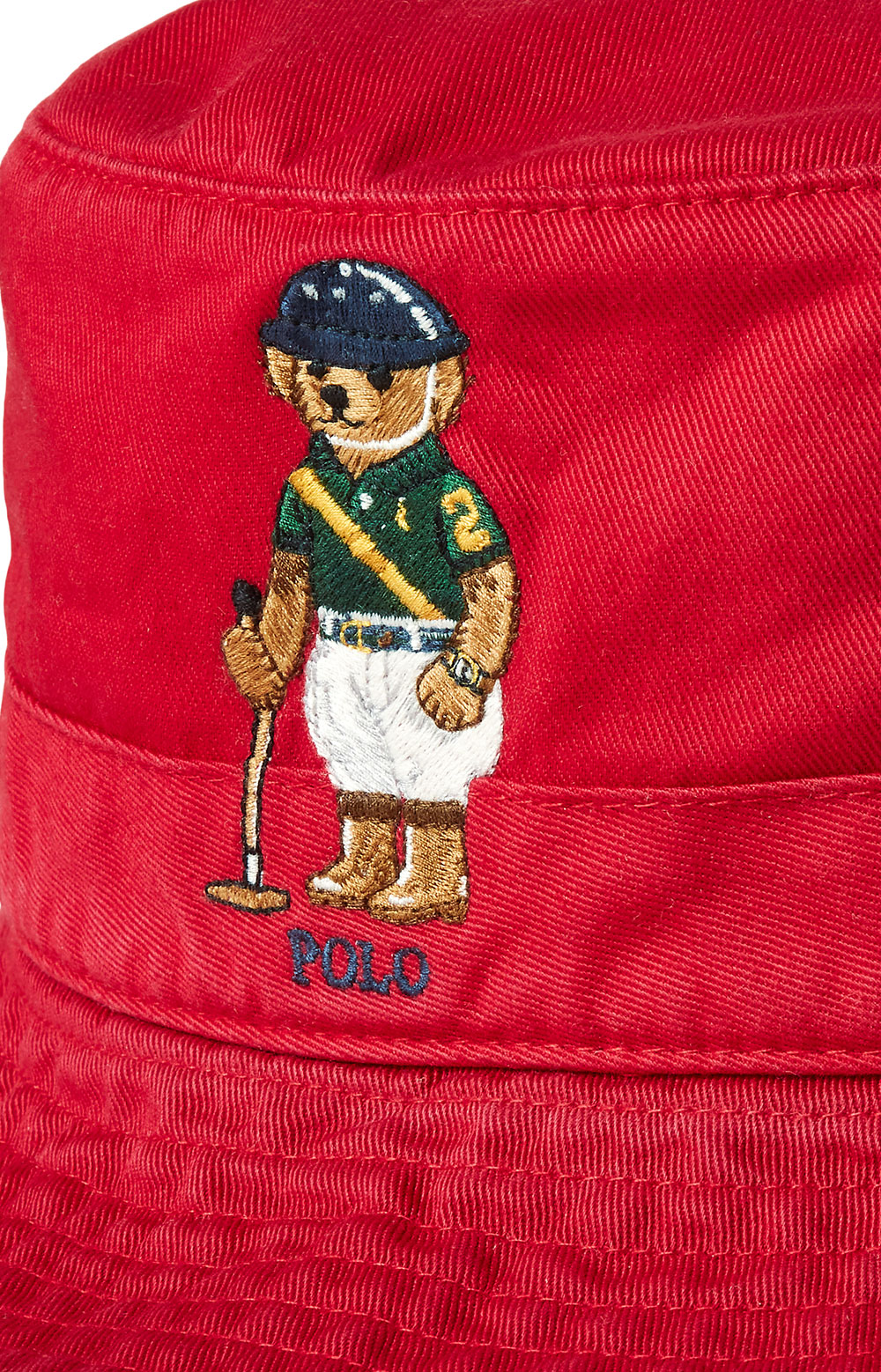 Polo Bear Chino Bucket Hat - Red 3