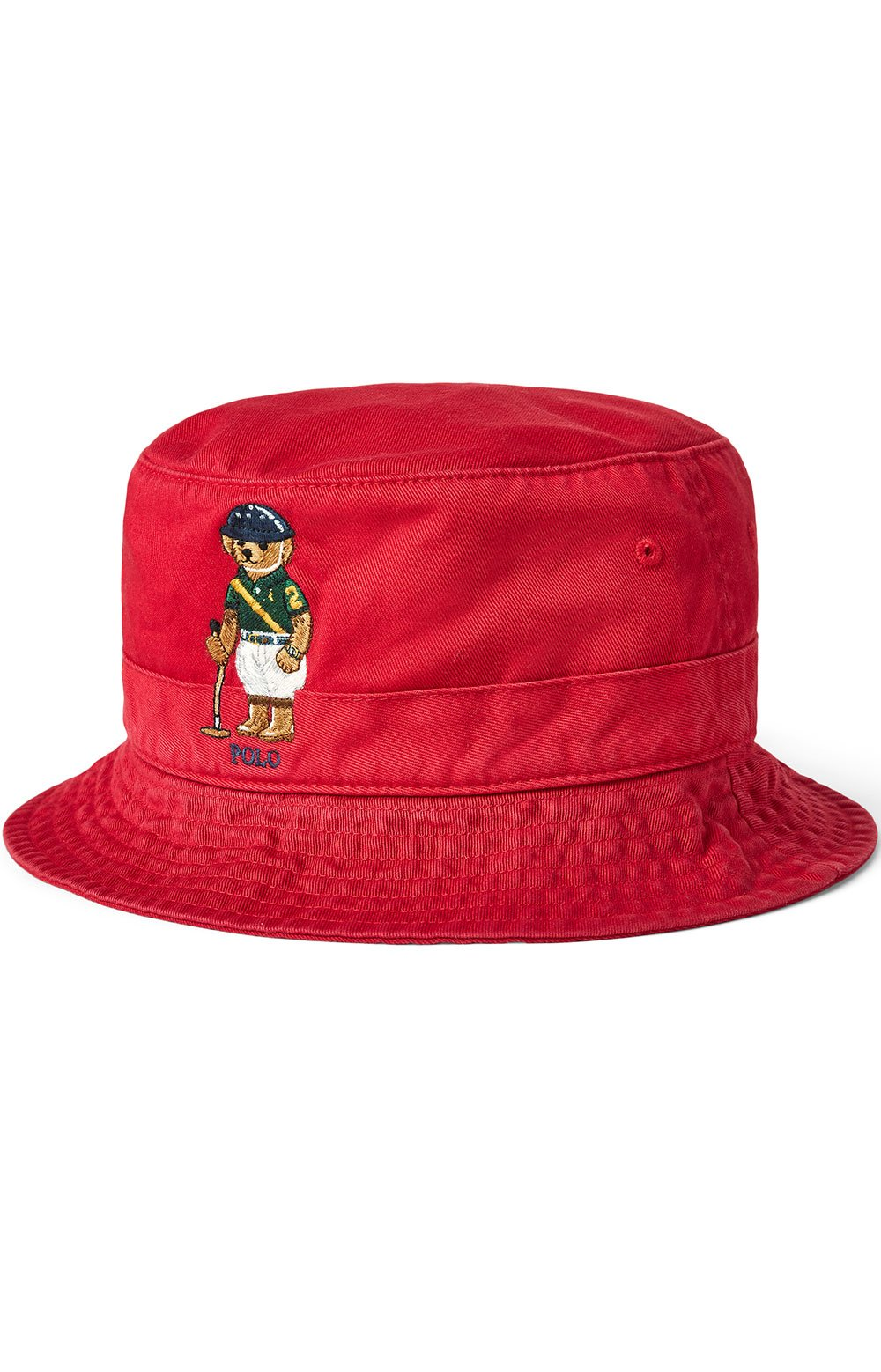 Polo Bear Chino Bucket Hat - Red