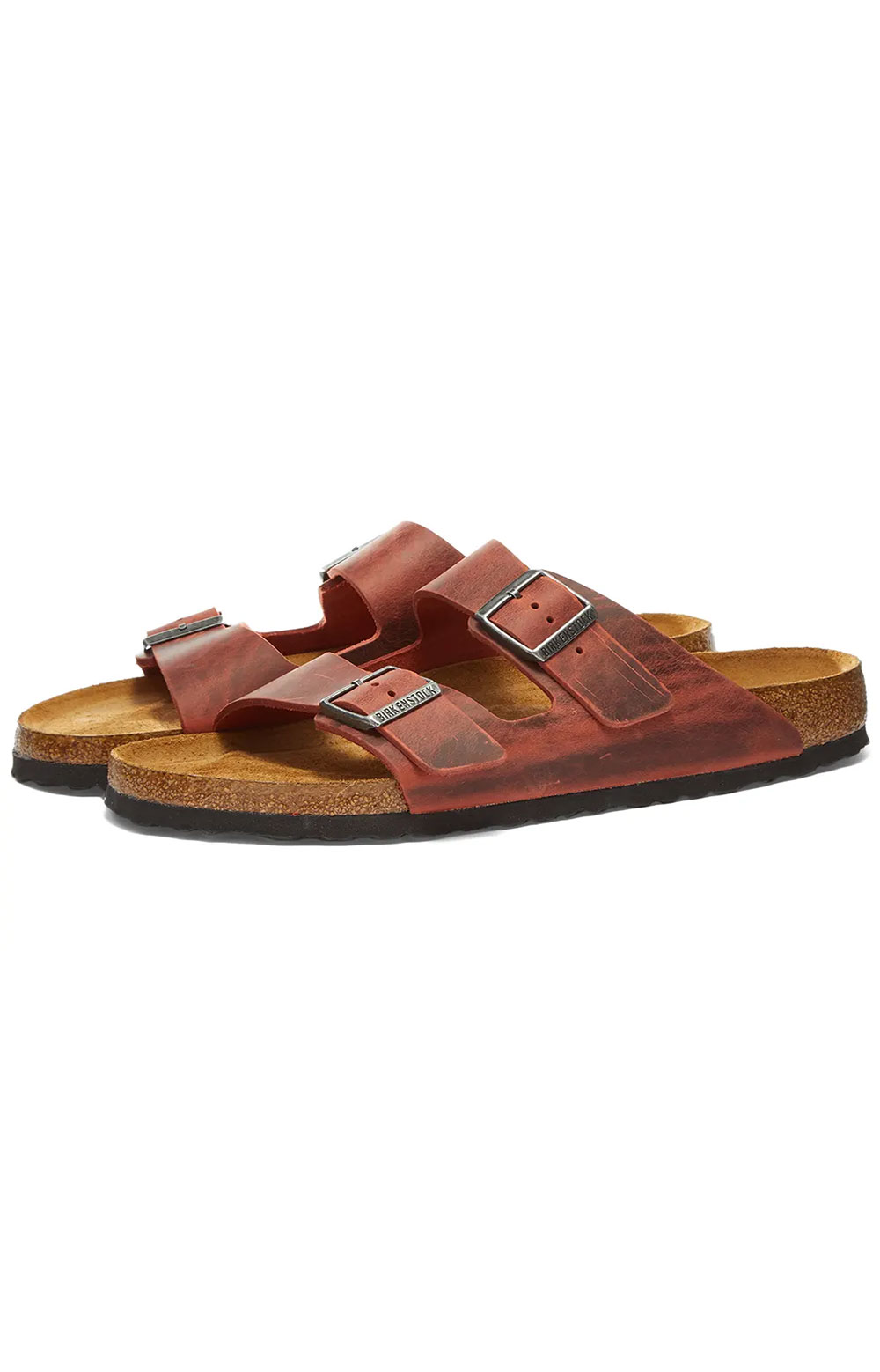 (1015544) Arizona Soft Footbed Sandals - Red Oil