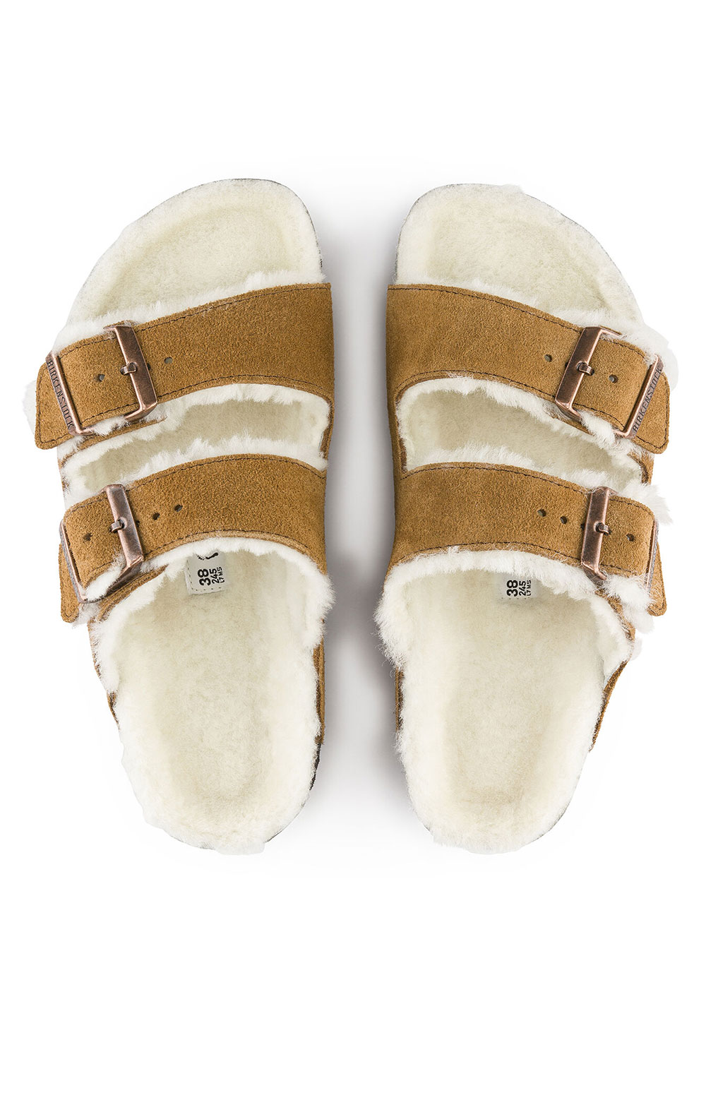 (1001128) Arizona Shearling Sandals - Mink 6