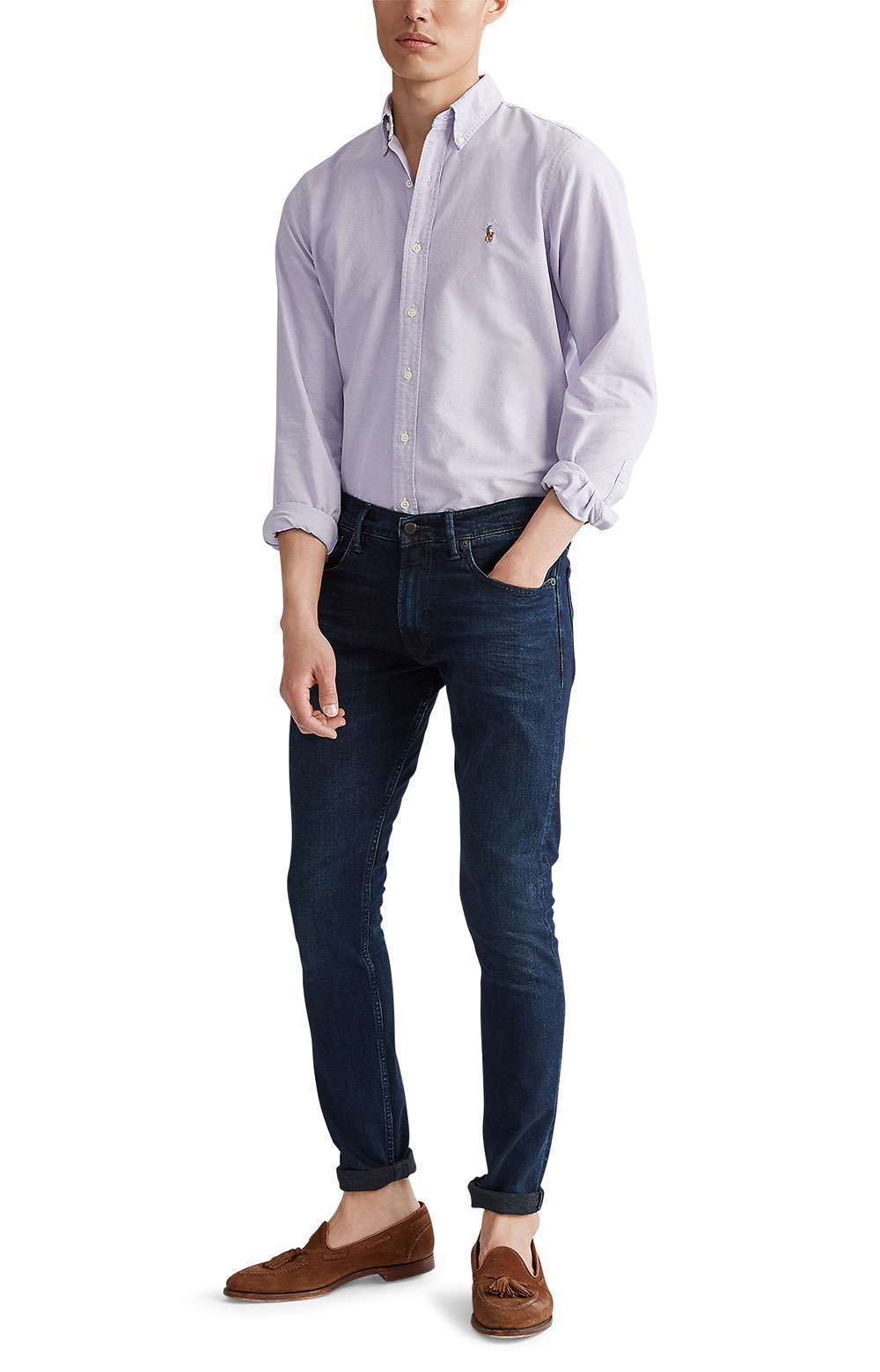 Classic Fit Oxford Shirt - Thistle  4