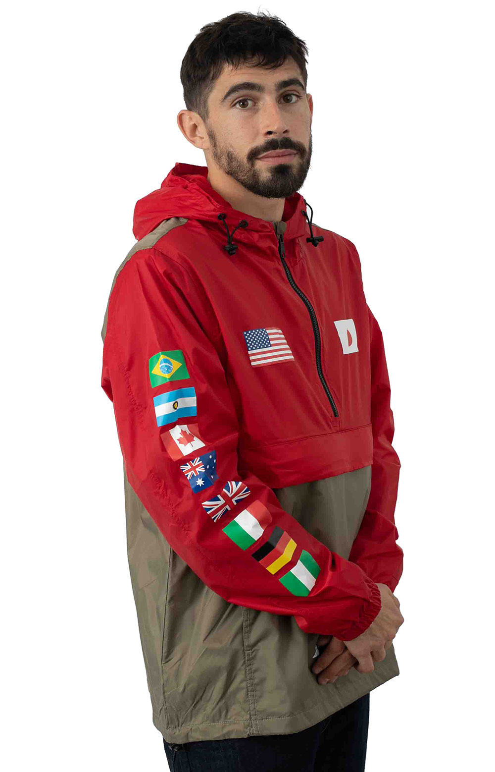 Flags Anorak Jacket - Cyber Red 2