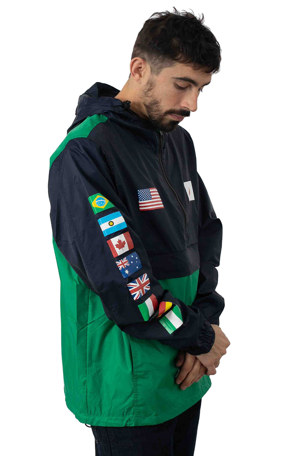 Flags Anorak Jacket - French Navy 2