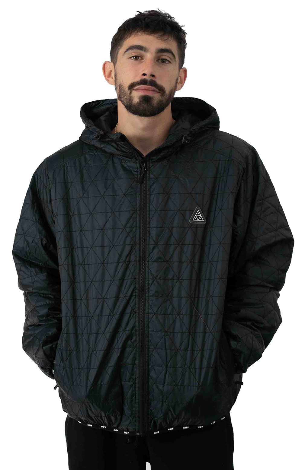Polygon Quilted Jacket - Black