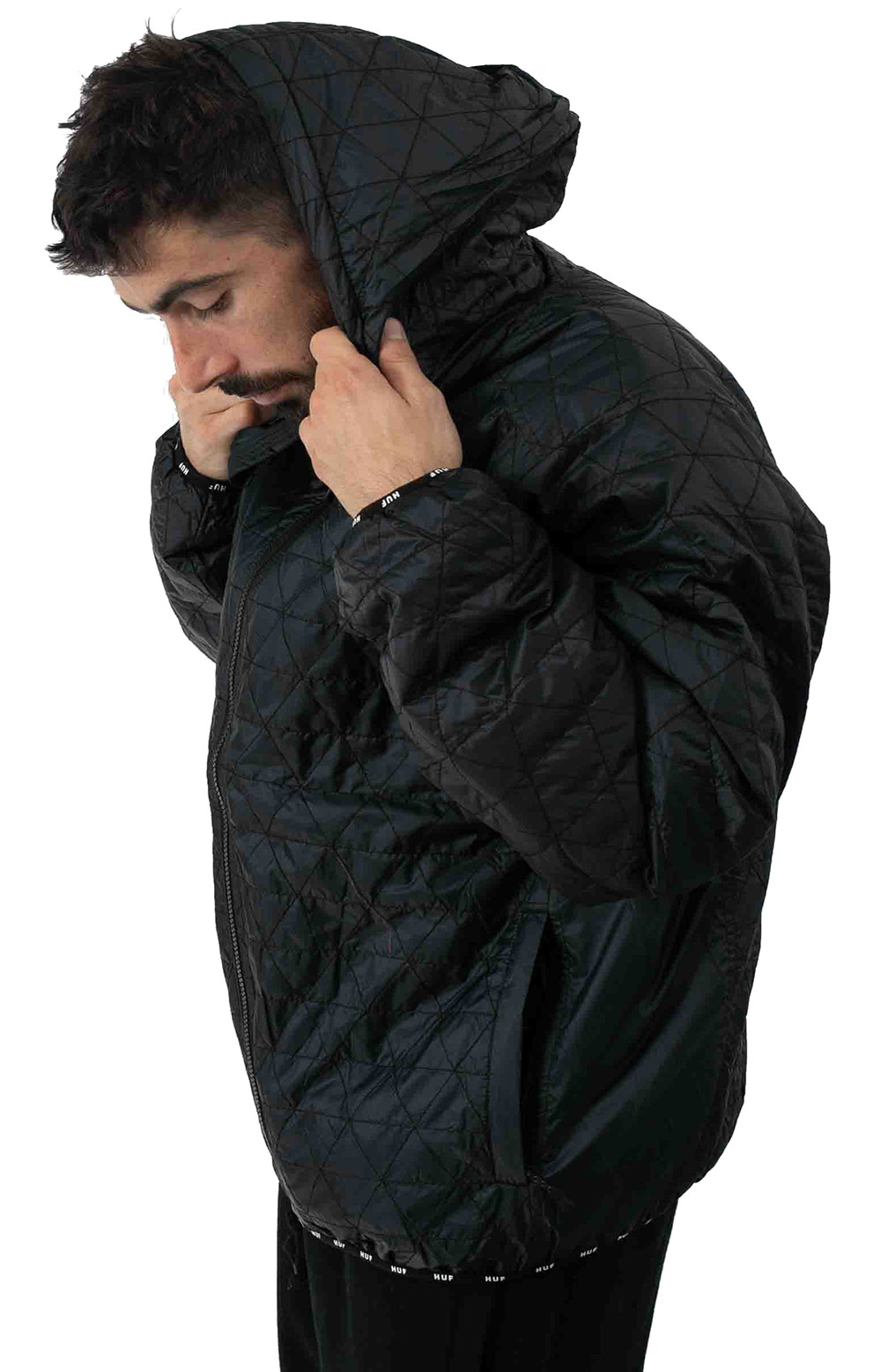 Polygon Quilted Jacket - Black 2