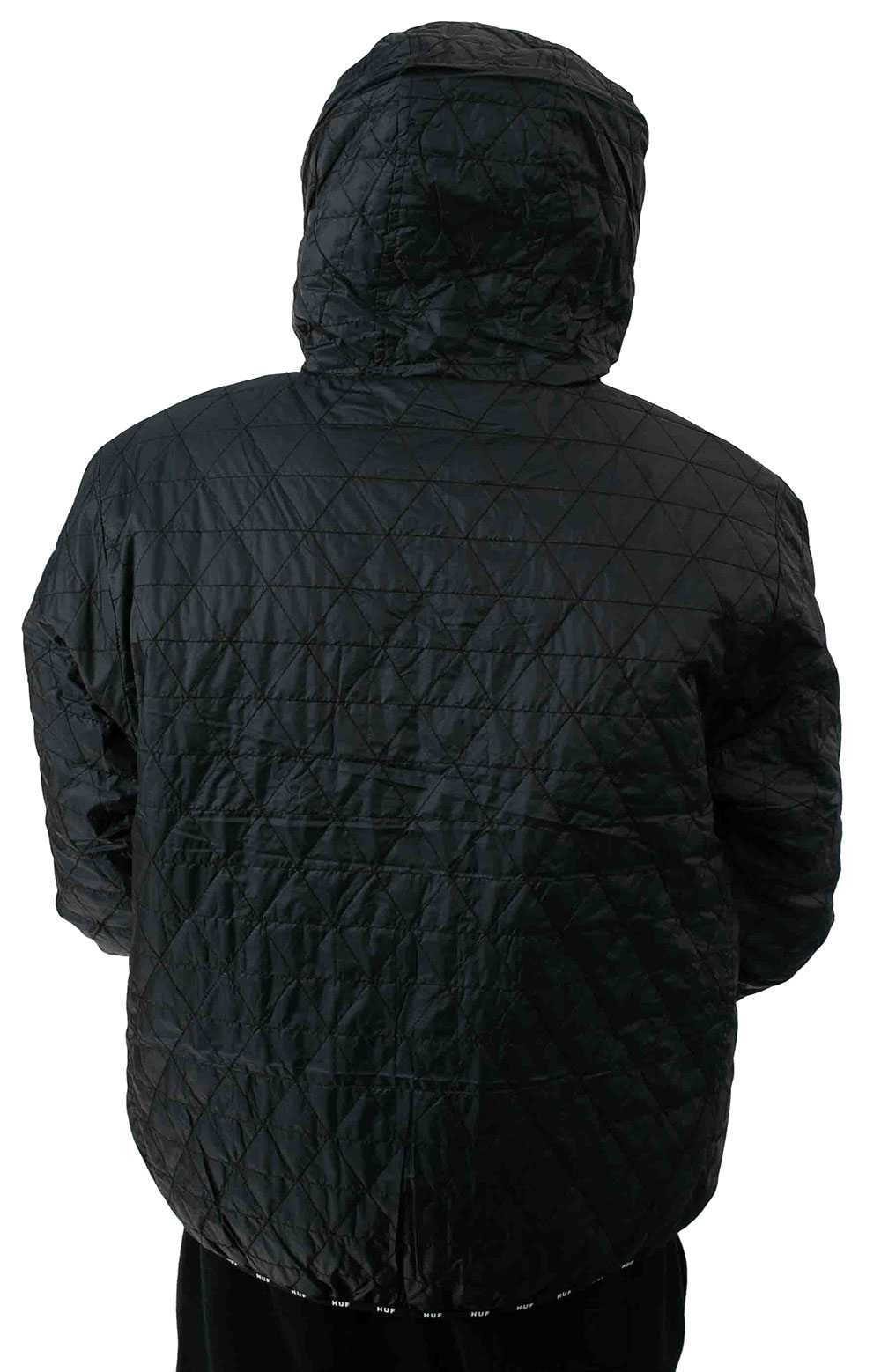 Polygon Quilted Jacket - Black 3