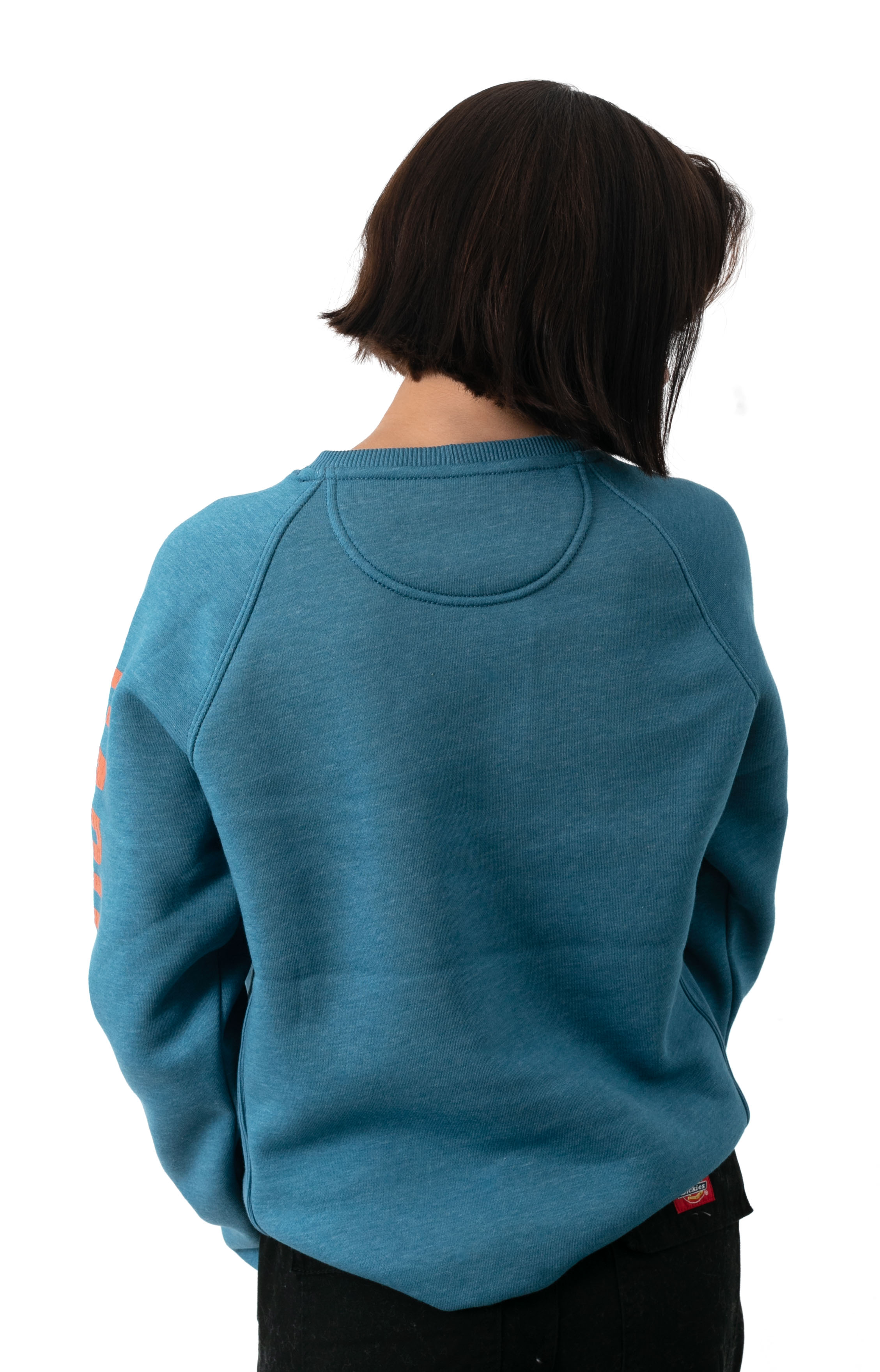 (104410) Relaxed Fit MW Graphic Sweatshirt - Ocean Blue Heather   3